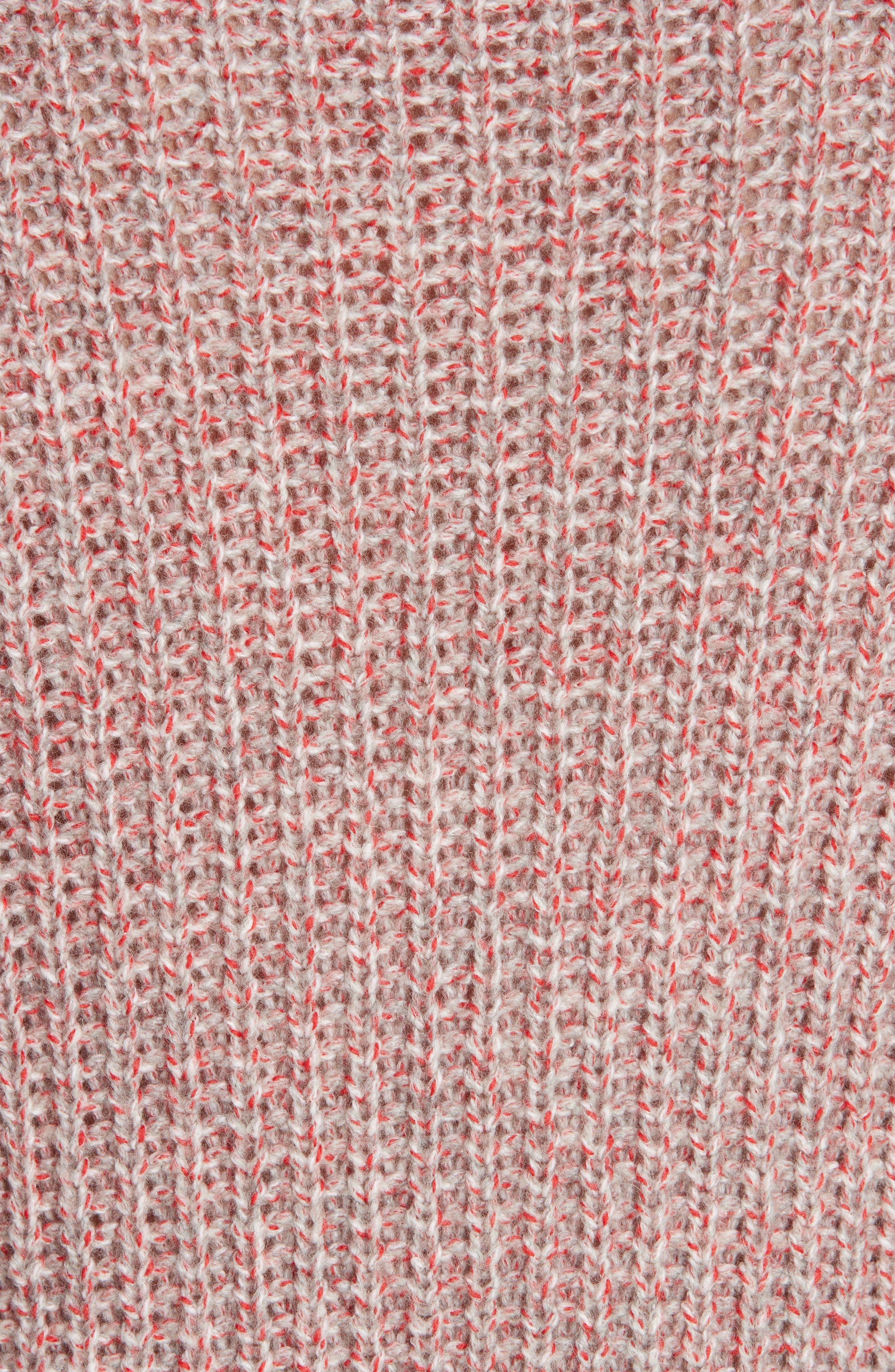 Cheryl Stripe Cuff Wool Blend Sweater,                             Alternate thumbnail 5, color,                             067