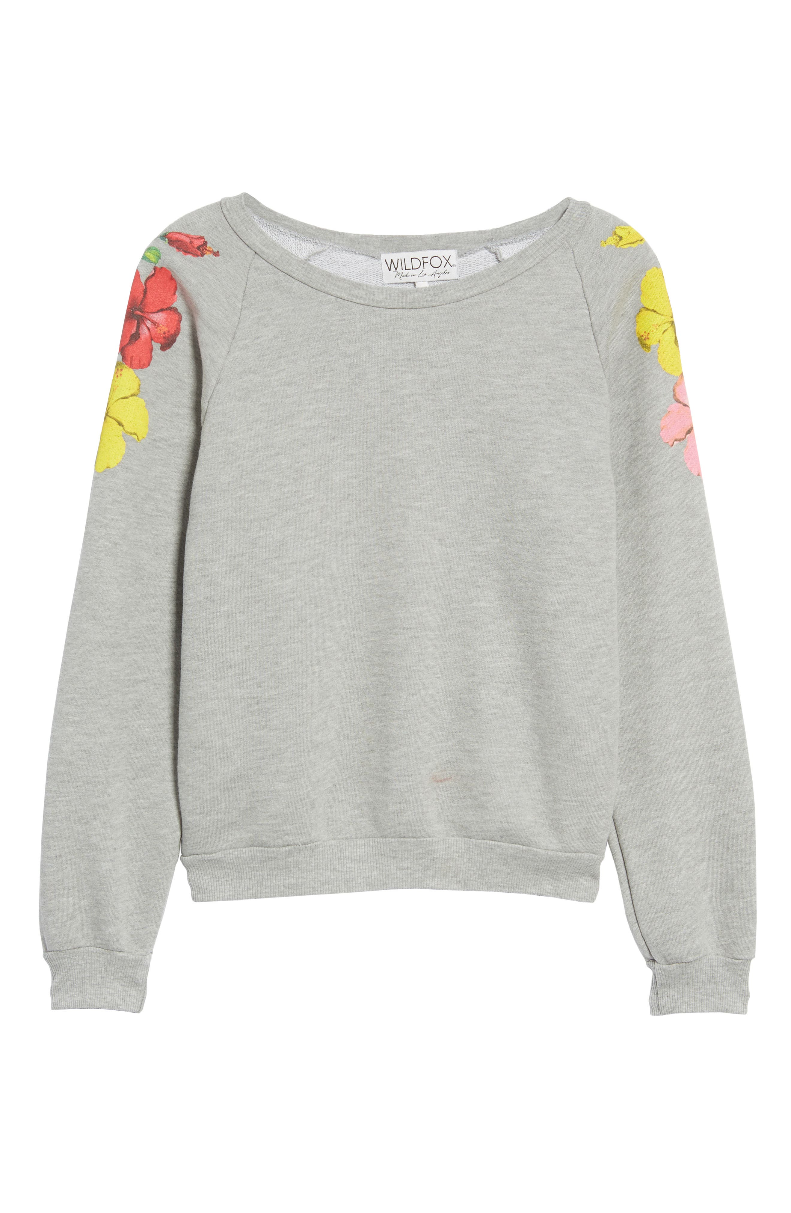 Hibiscus Junior Sweatshirt,                             Alternate thumbnail 6, color,                             020