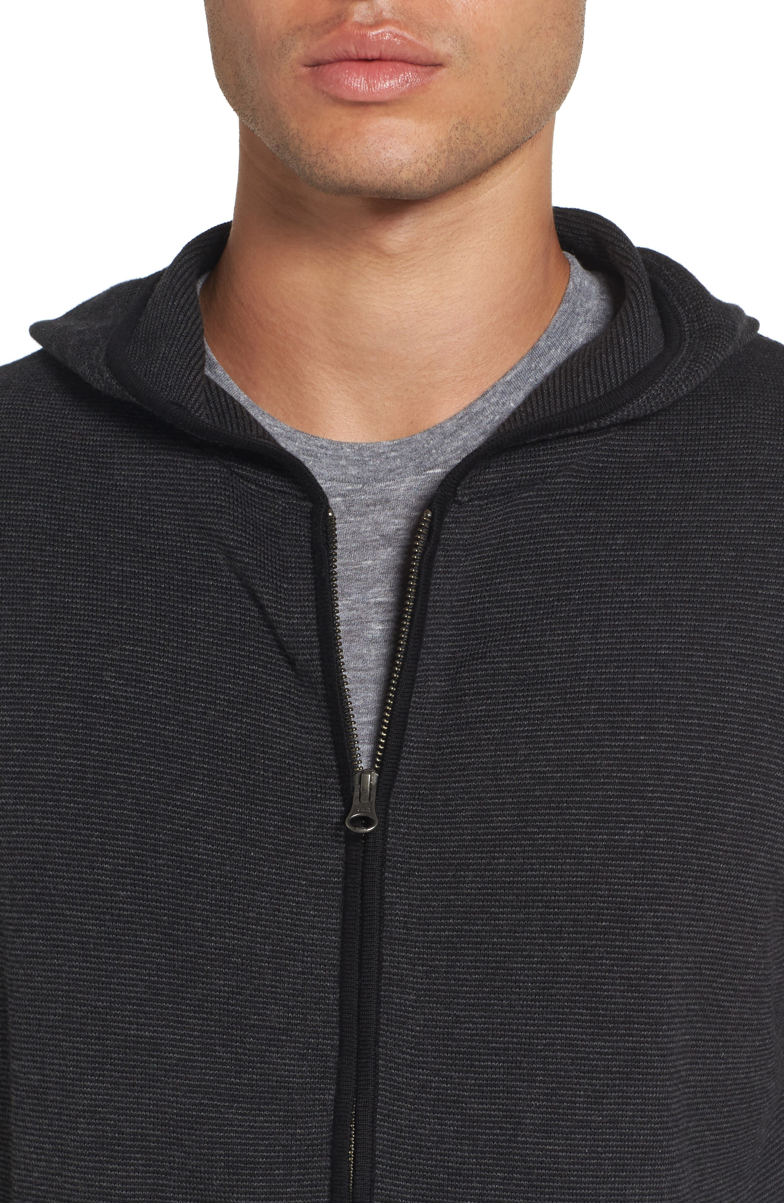 Zip Front Hooded Sweater,                             Alternate thumbnail 10, color,