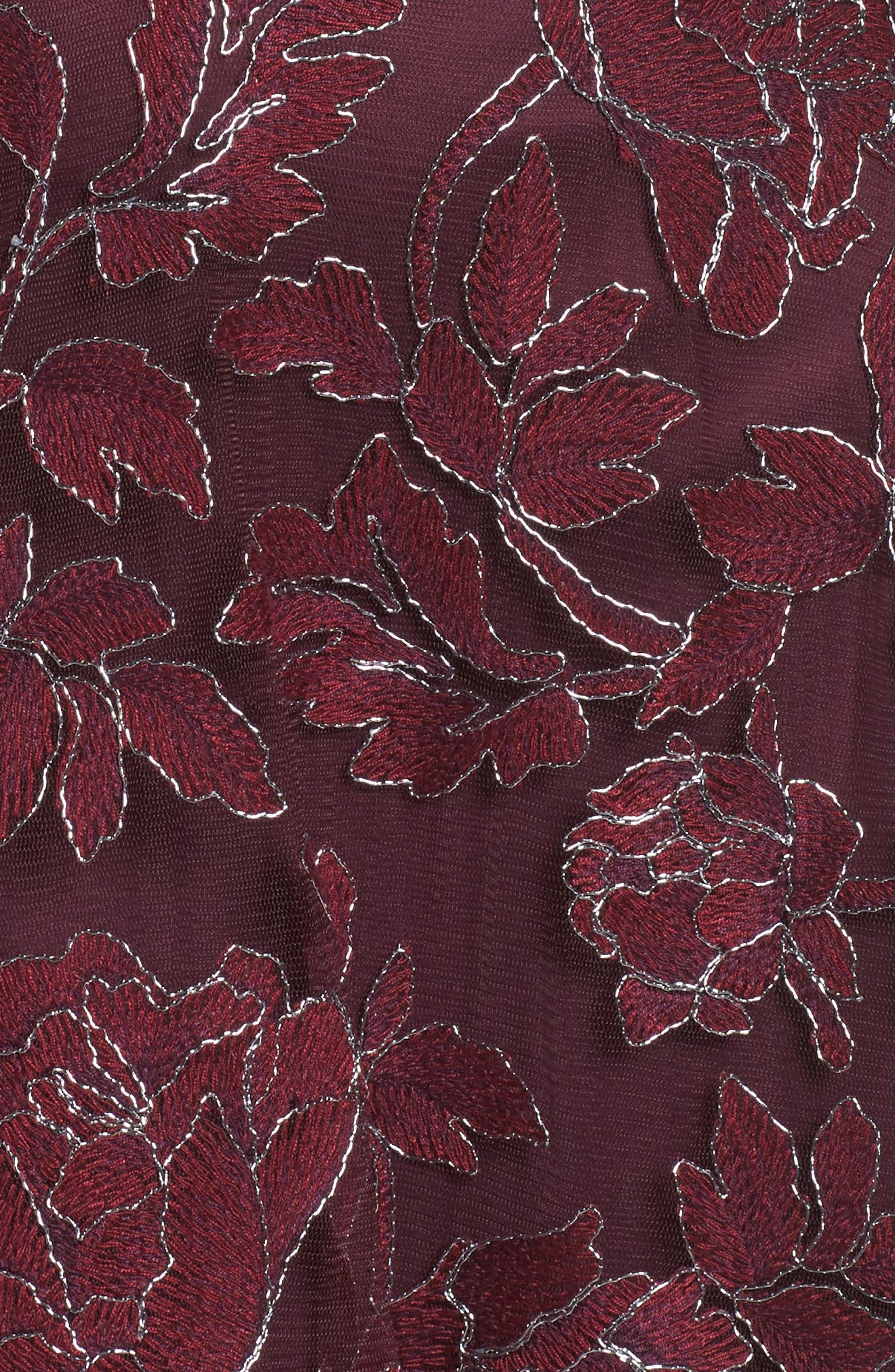 Noelle Floral Fit & Flare Dress,                             Alternate thumbnail 5, color,                             572