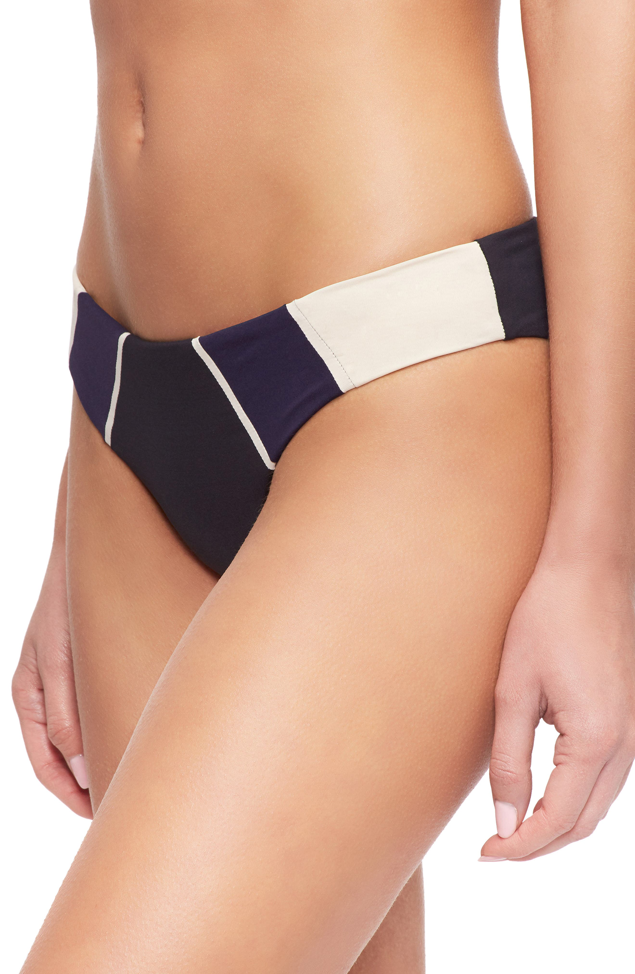 Alea Bikini Bottoms,                             Alternate thumbnail 4, color,                             TAPIOCA/EVENING BLUE