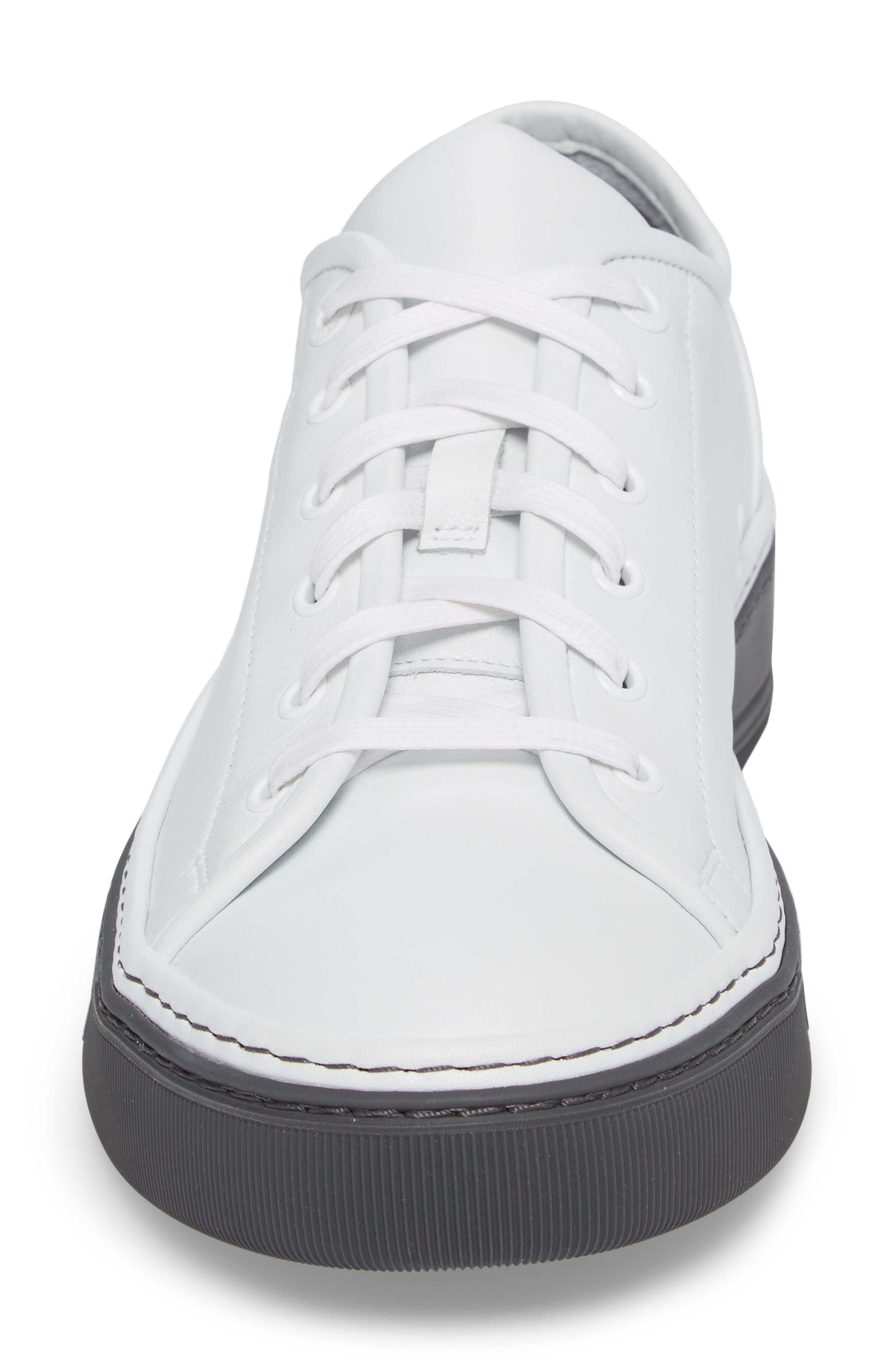 Mini Logo Clean Sneaker,                             Alternate thumbnail 4, color,                             100