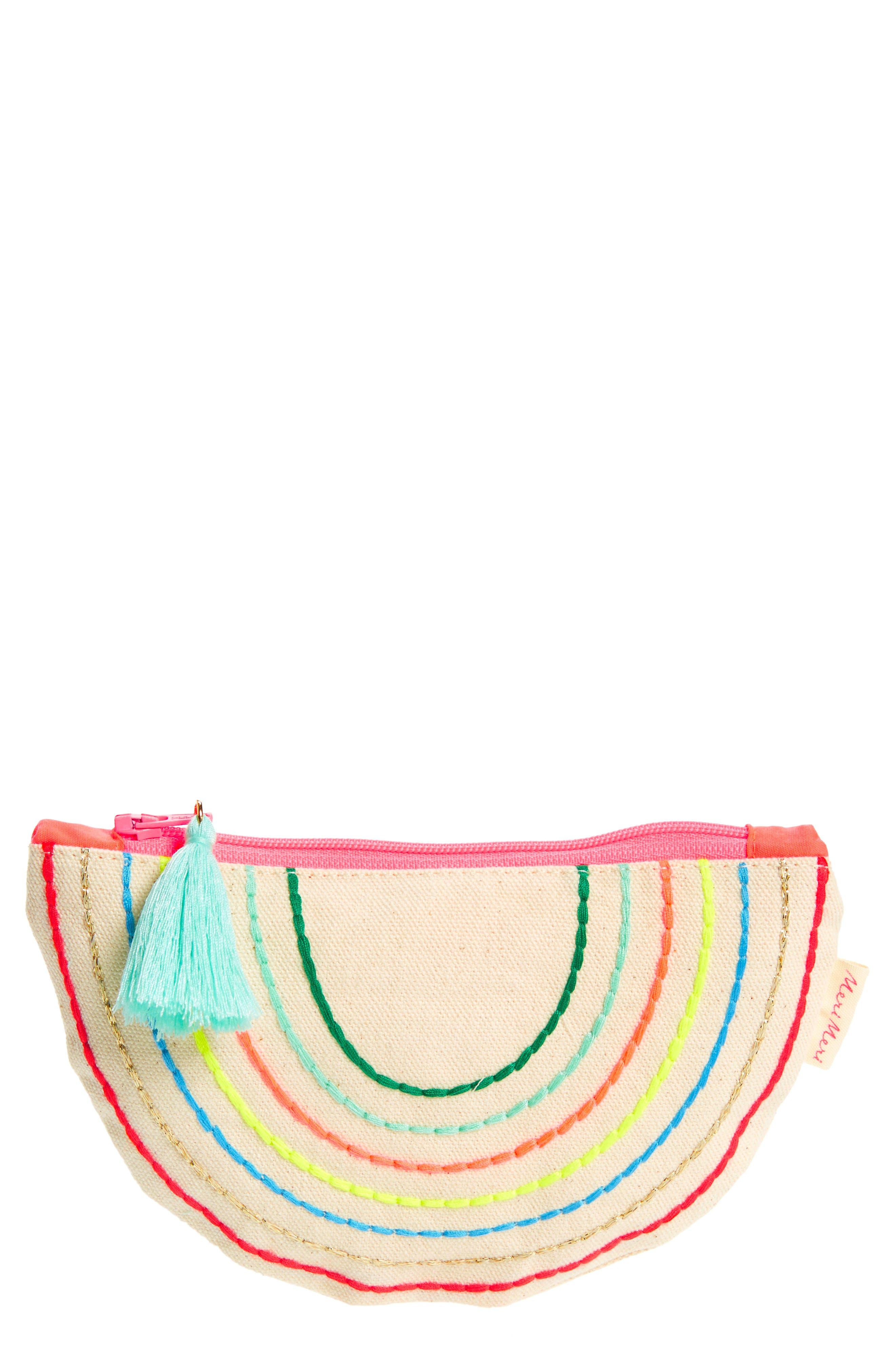 Rainbow Zip Pouch,                             Main thumbnail 1, color,                             900