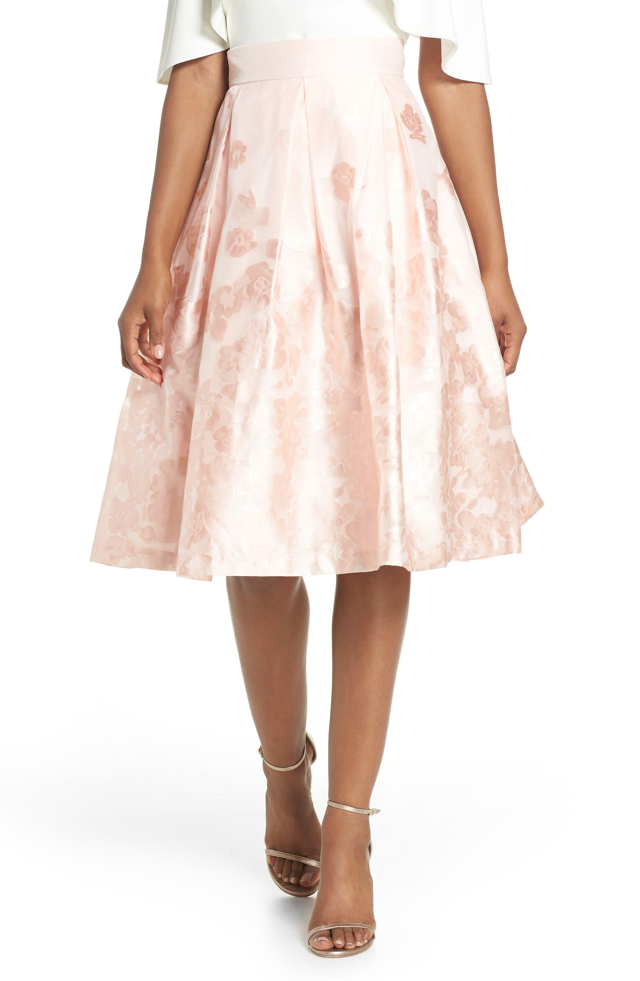Jacquard A-Line Skirt,                             Main thumbnail 1, color,                             BLUSH