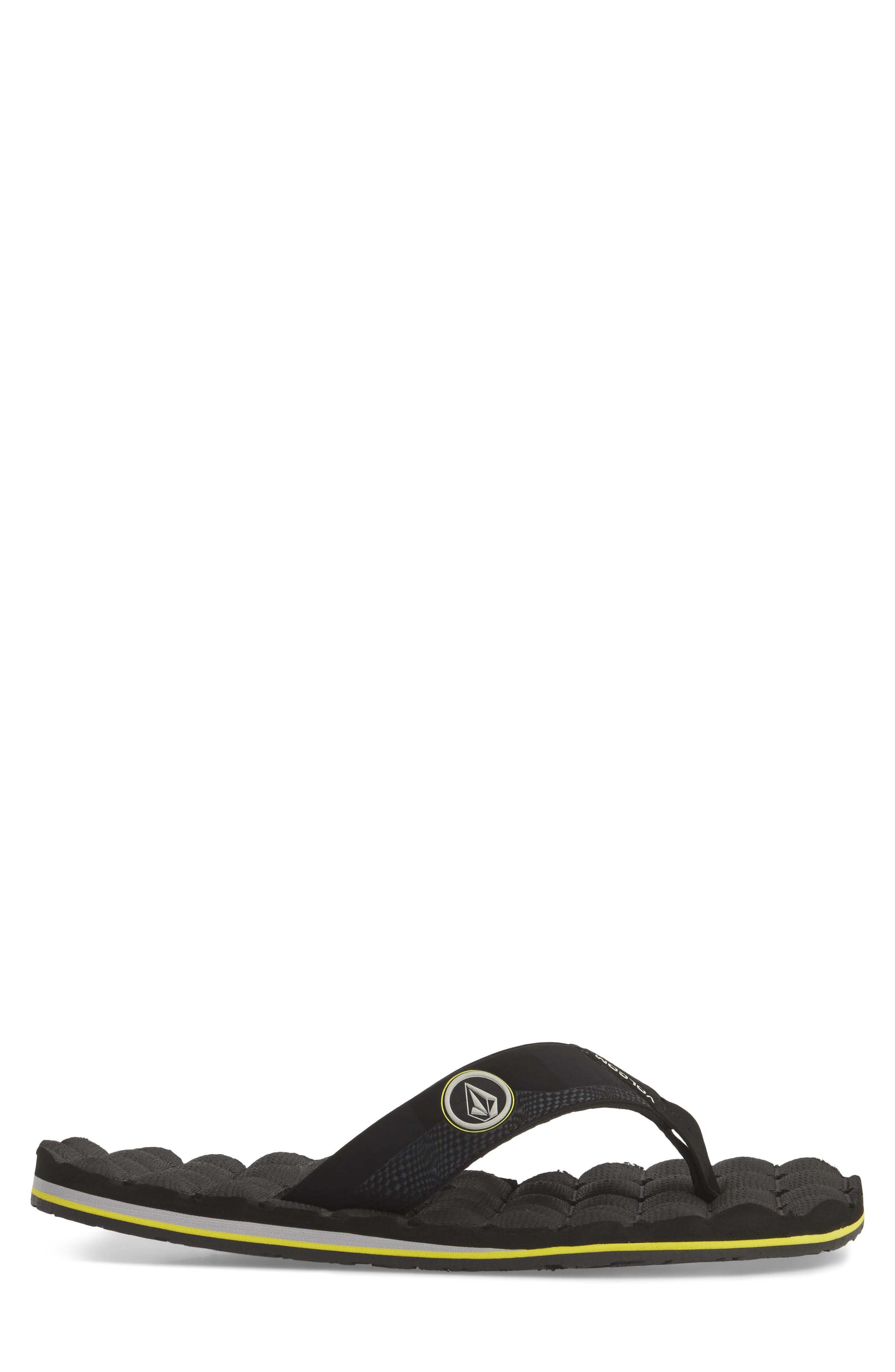 'Recliner' Flip Flop,                             Alternate thumbnail 3, color,                             BLACK