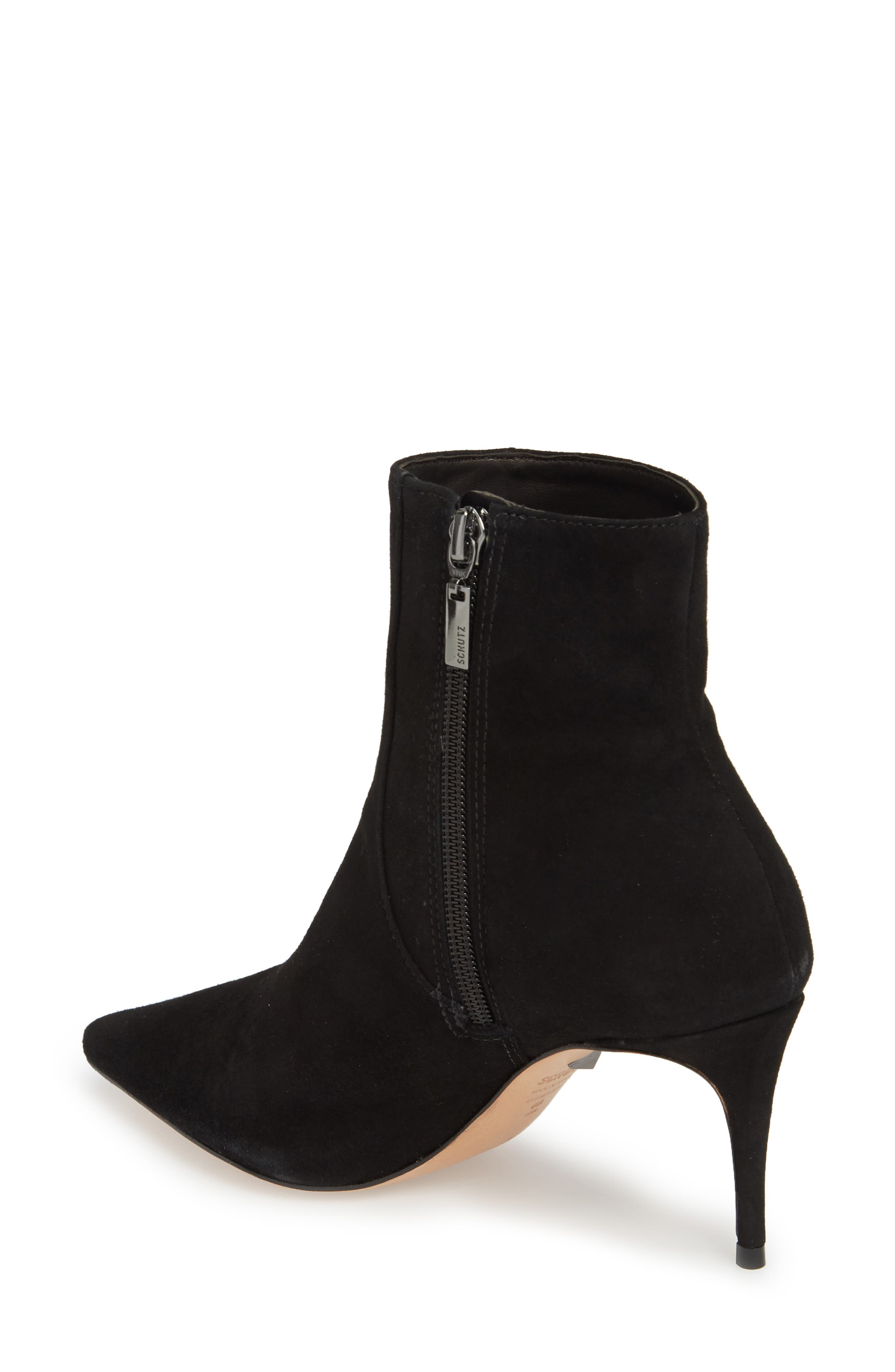 Bette Bootie,                             Alternate thumbnail 2, color,                             BLACK SUEDE