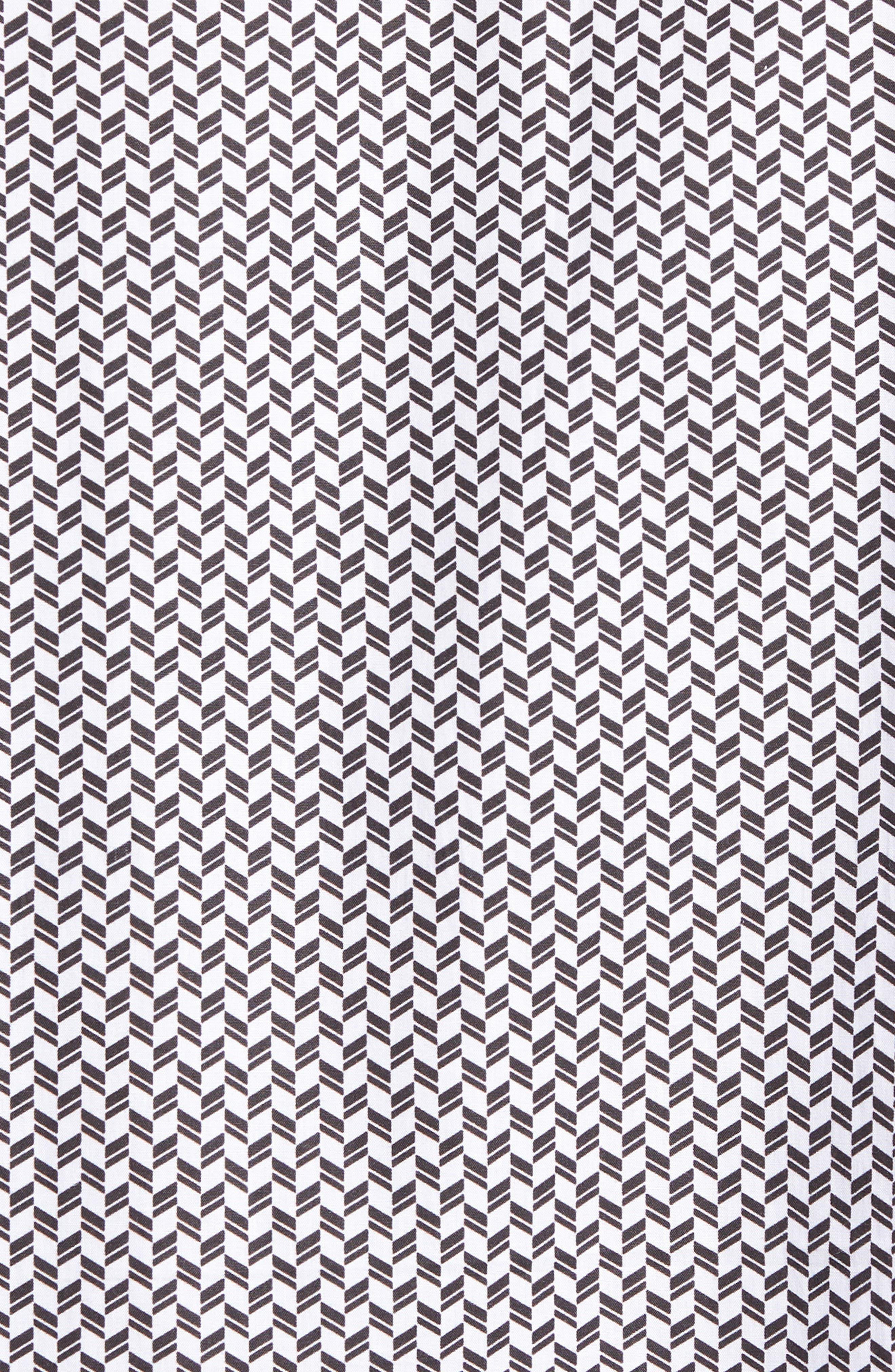 Shaped Fit Chevron Print Sport Shirt,                             Alternate thumbnail 5, color,                             001