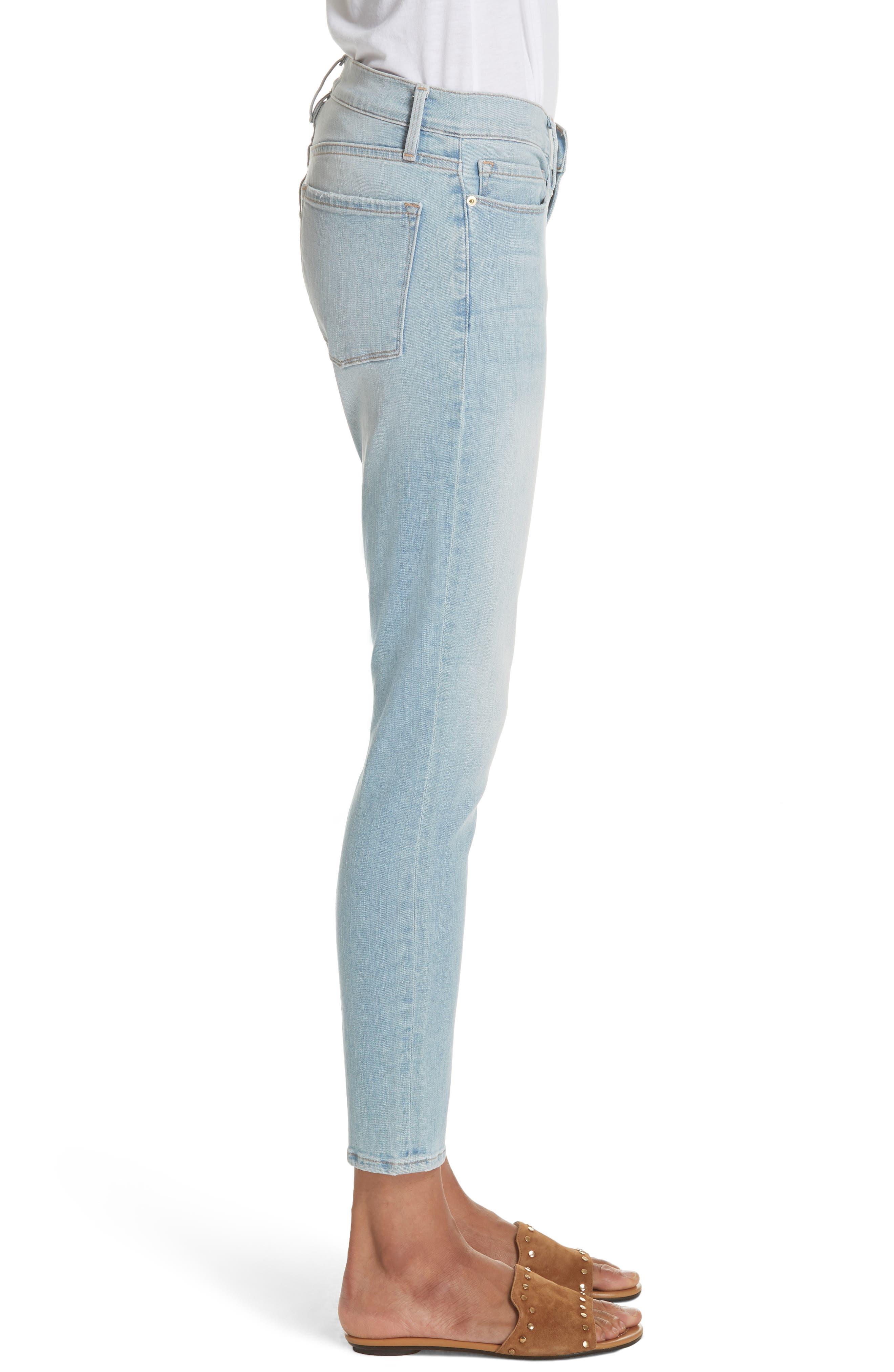 Le Skinny de Jeanne Crop Jeans,                             Alternate thumbnail 3, color,                             SOUTHALL