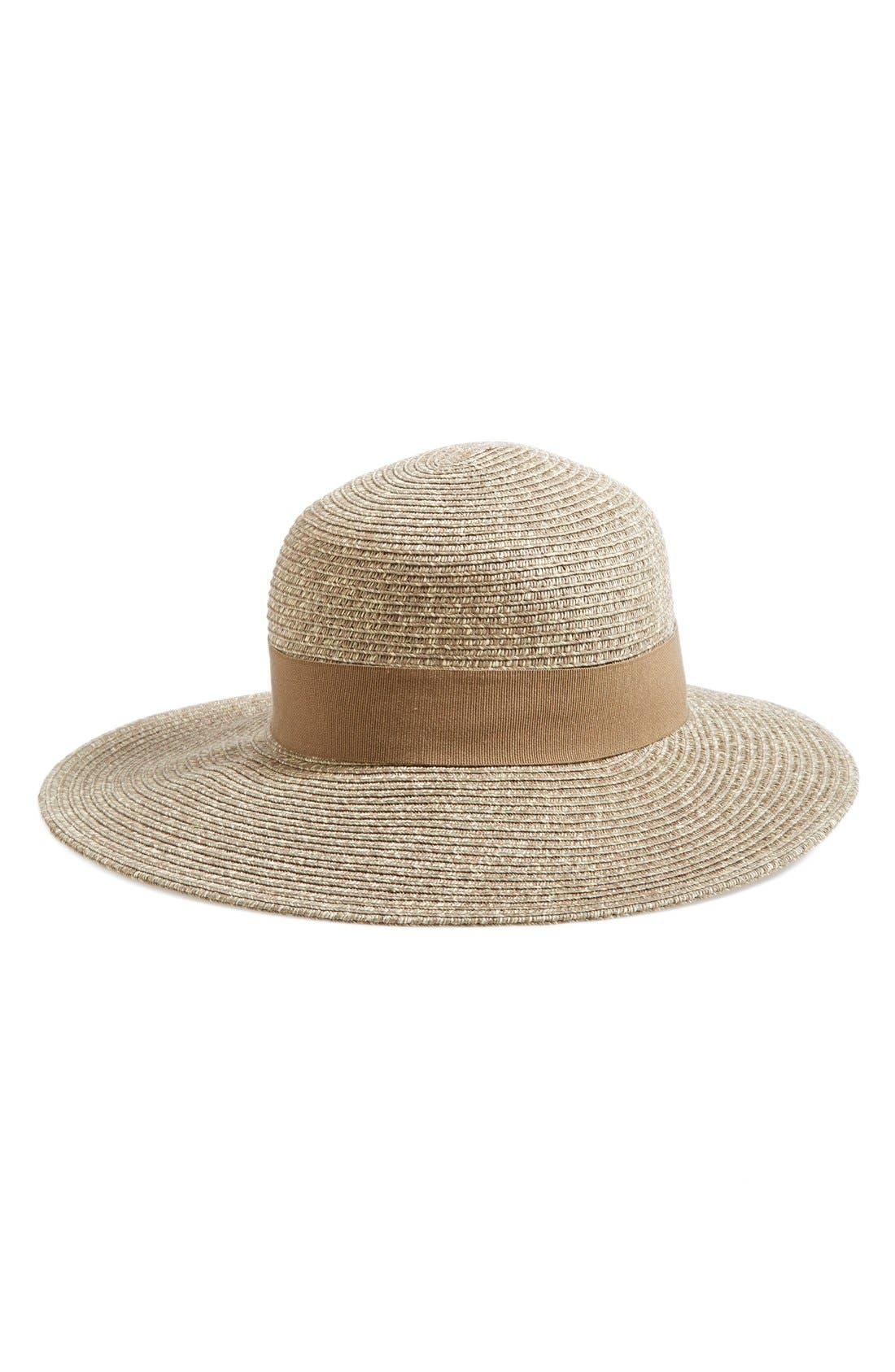Wide Brim Sun Hat,                             Main thumbnail 6, color,