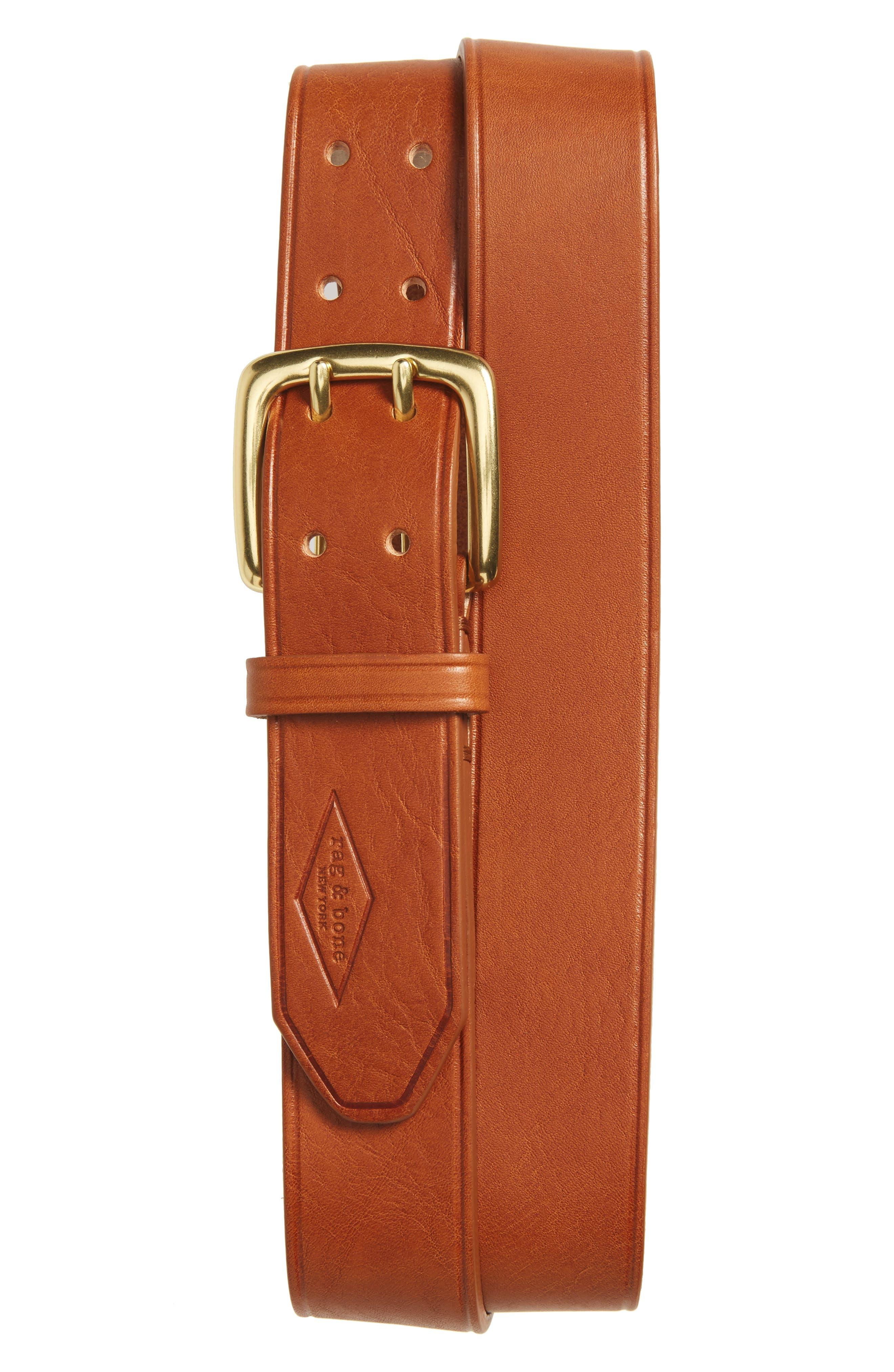 Leather Belt,                         Main,                         color, 287