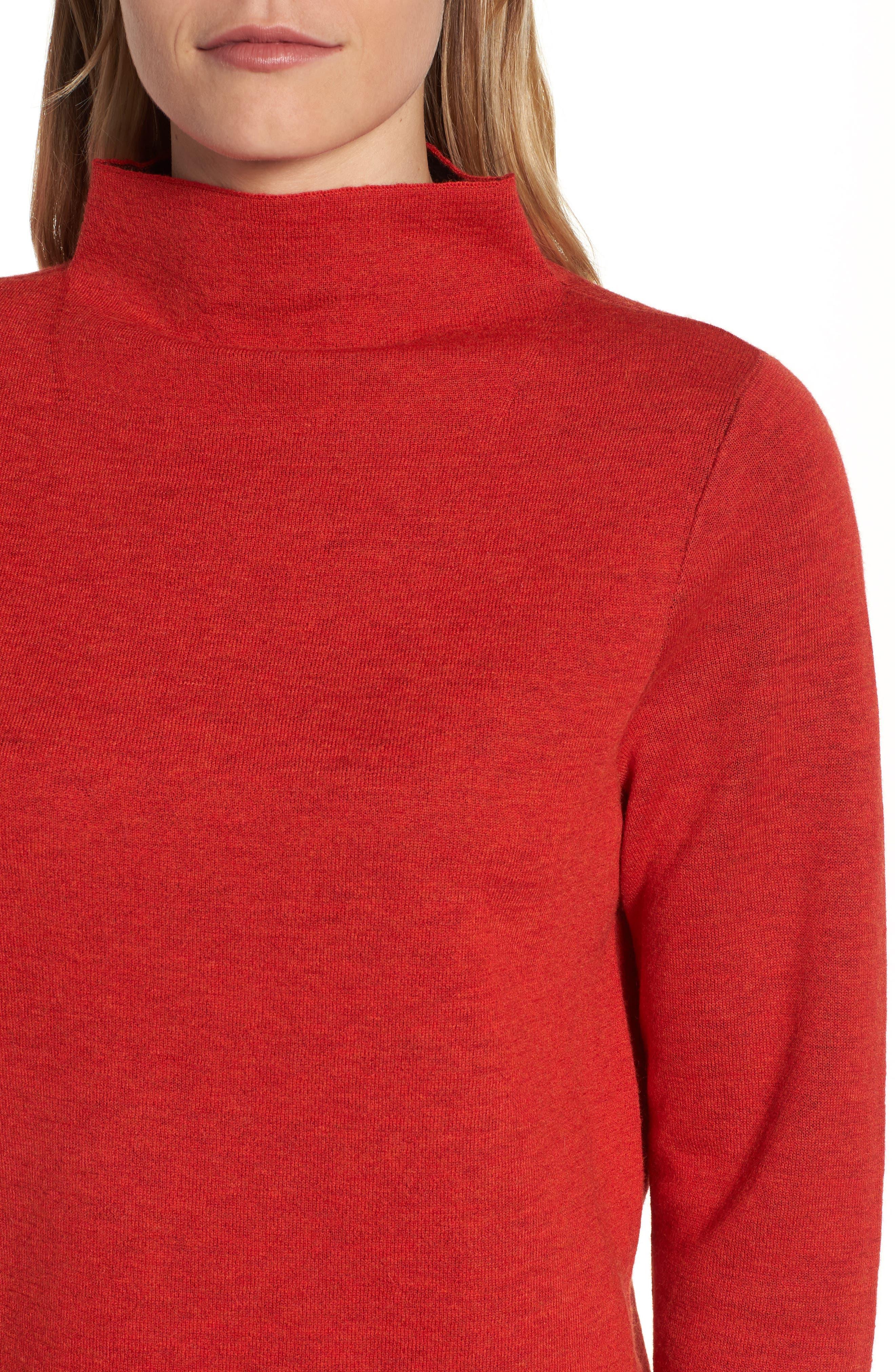 Funnel Neck Sweater,                             Alternate thumbnail 8, color,