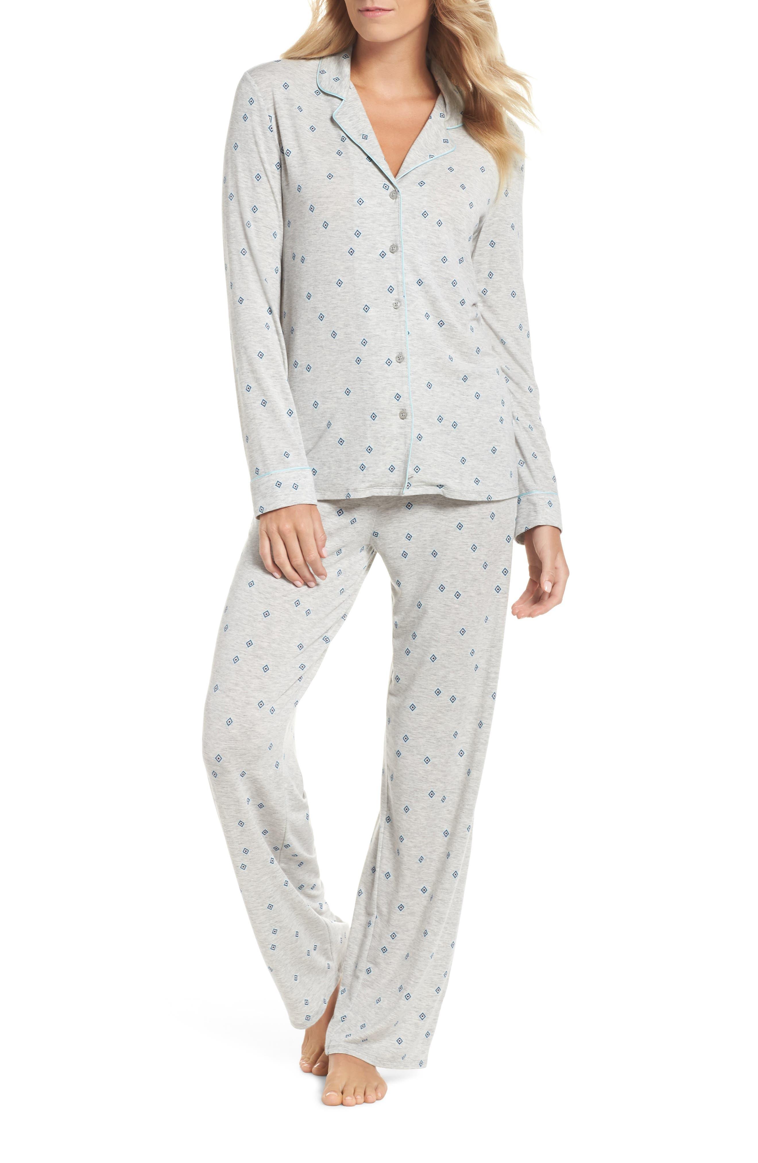 Nordstrom Lingerie Moonlight Pajamas, Grey