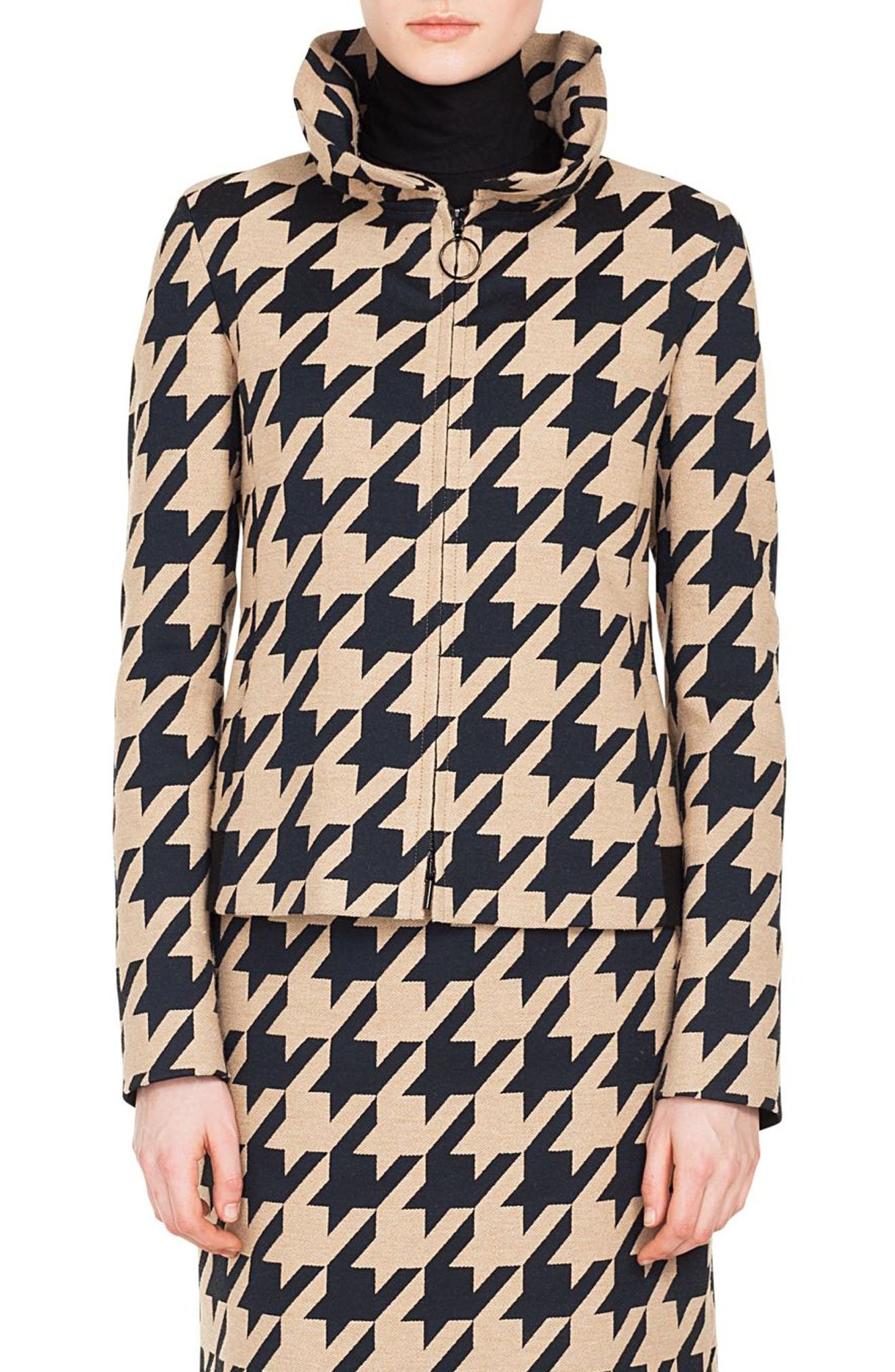 Houndstooth Jacquard Jacket,                             Main thumbnail 1, color,                             250
