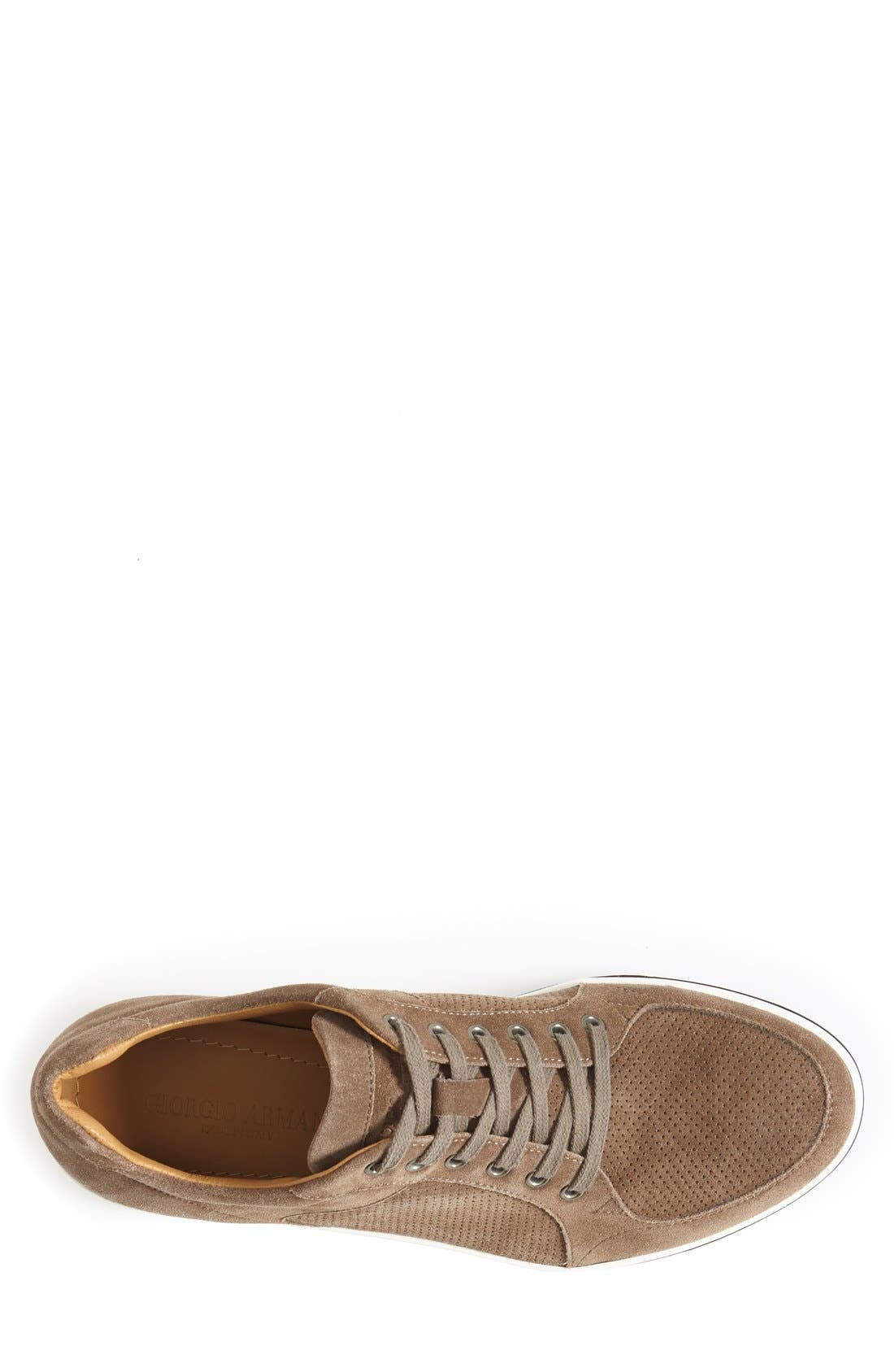 Perforated Suede Sneaker,                             Alternate thumbnail 2, color,                             260