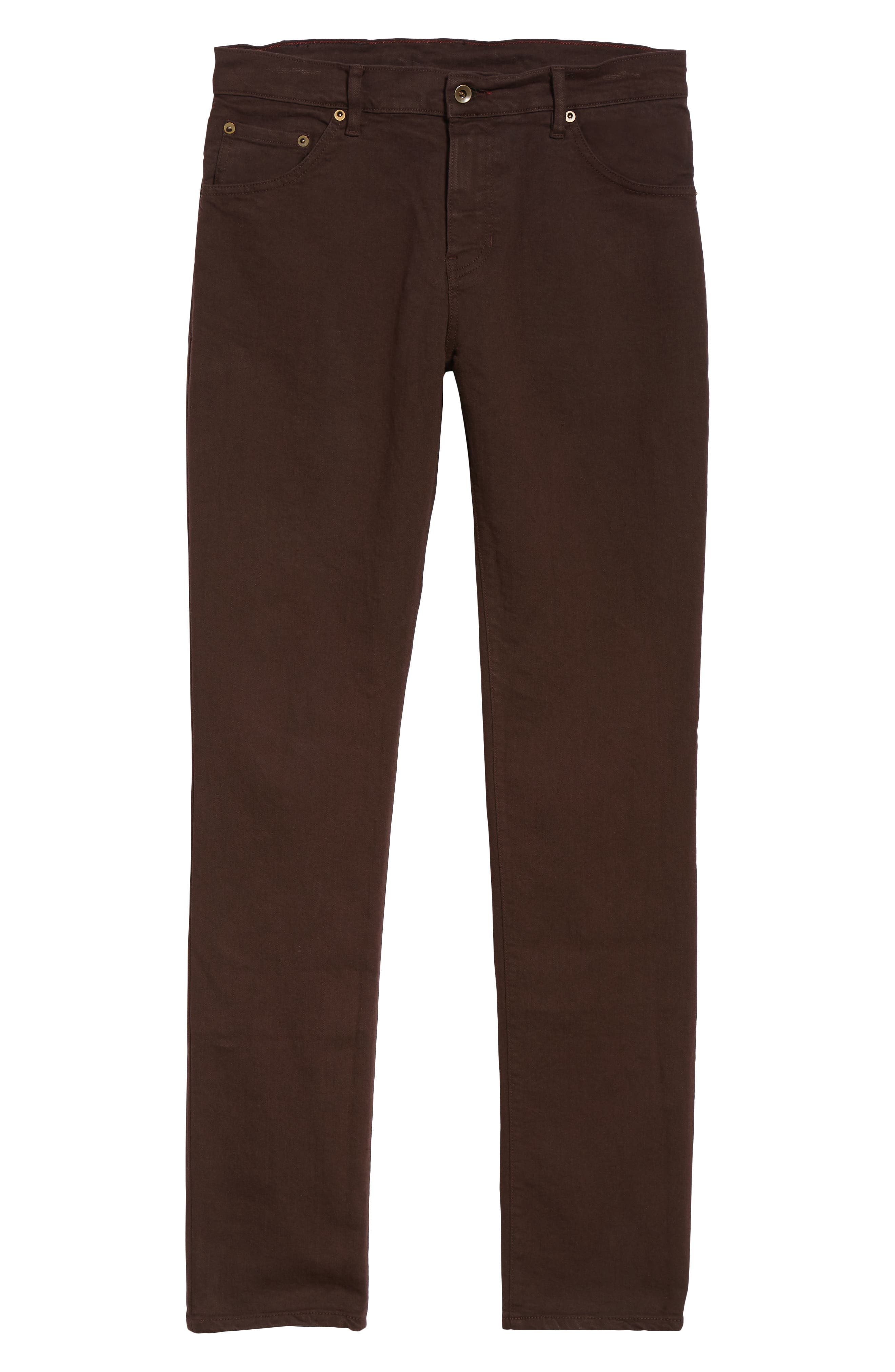 Raleight Denim Martin Skinny Fit Jeans,                             Alternate thumbnail 6, color,                             CURRANT