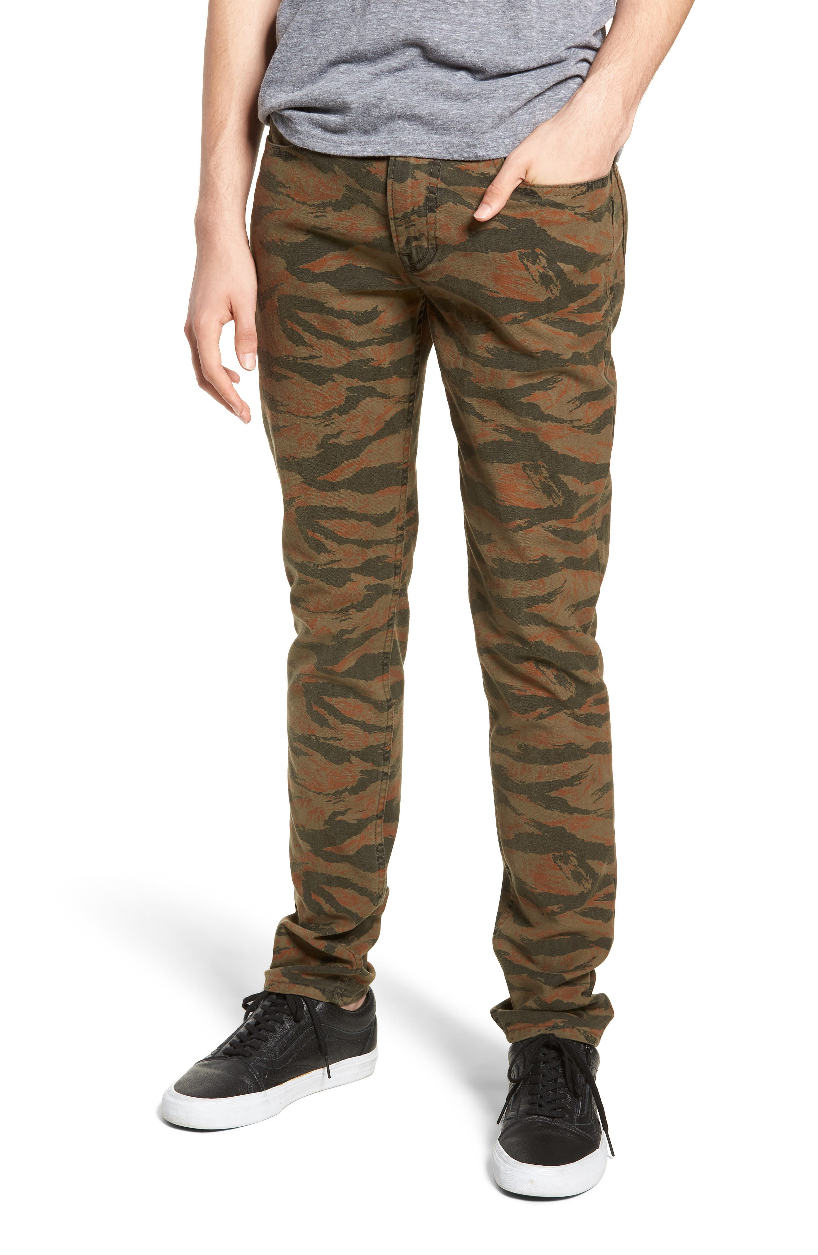 Axl Skinny Fit Jeans,                             Main thumbnail 1, color,                             TIGER CAMO
