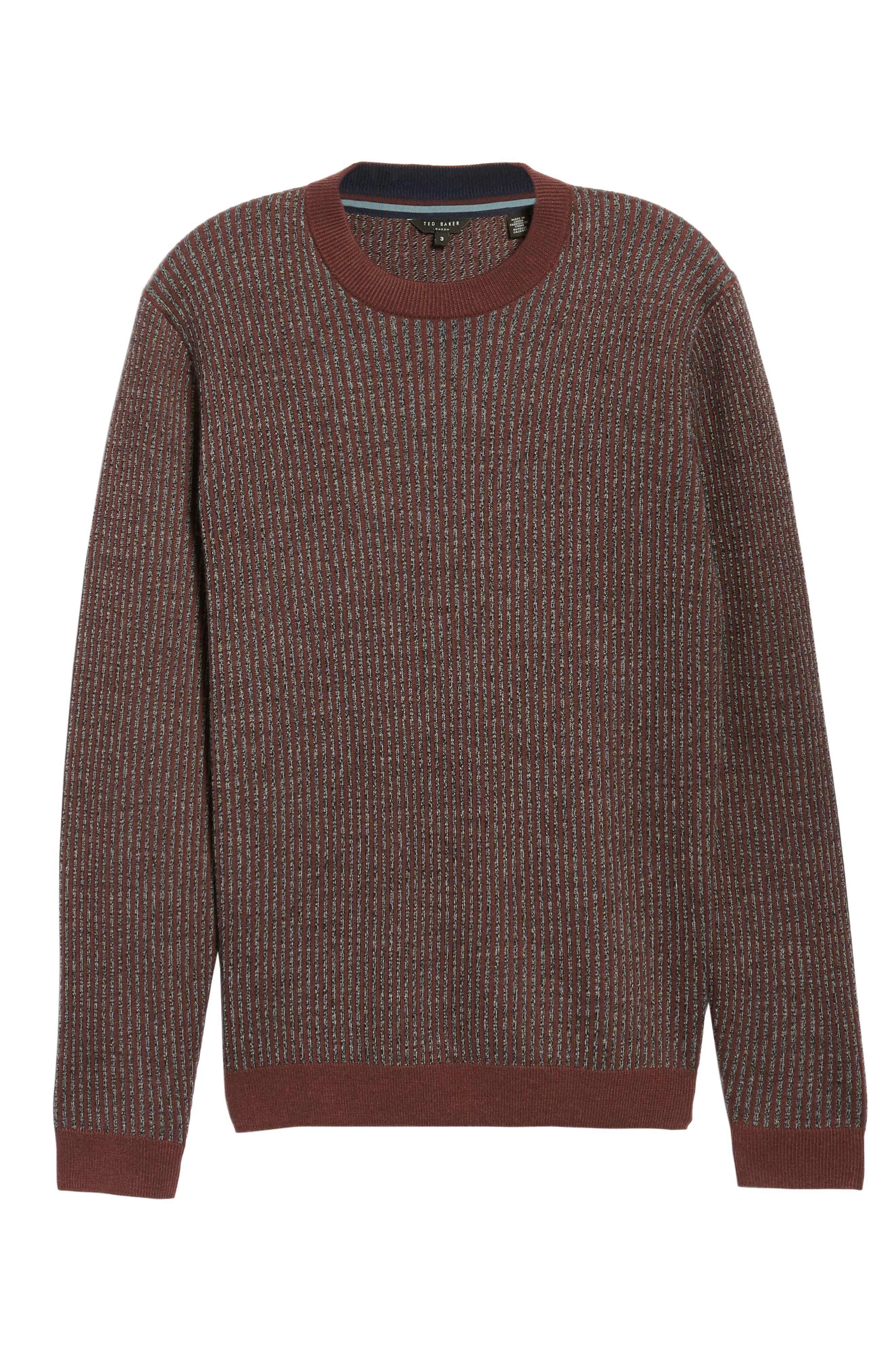 Jinxitt Crewneck Sweater,                             Alternate thumbnail 6, color,                             DEEP-PINK