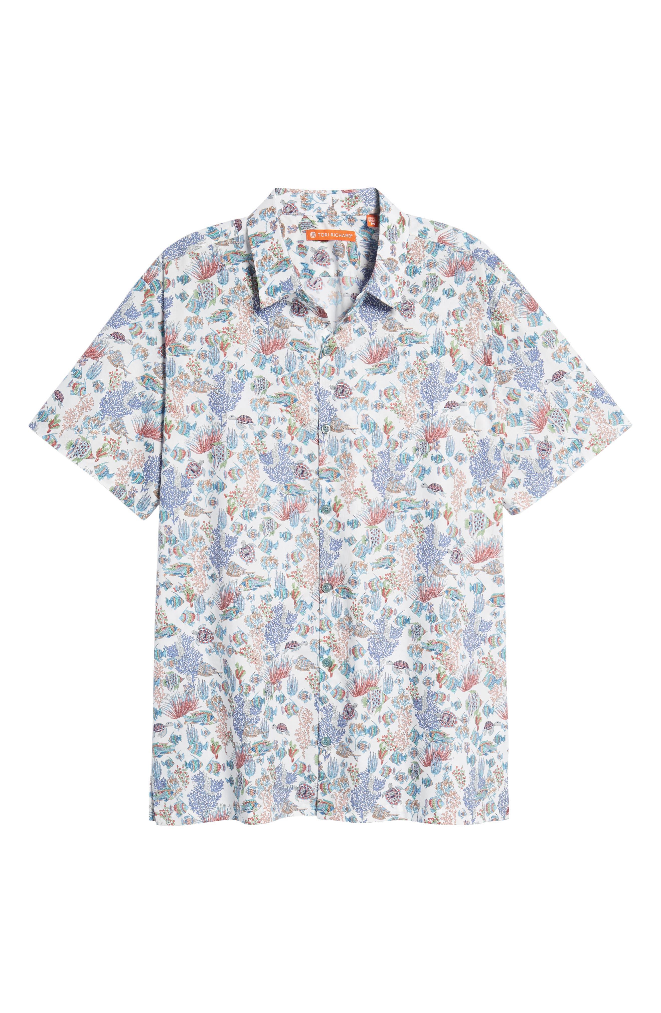 Aquaculture Slim Fit Camp Shirt,                             Alternate thumbnail 6, color,                             100