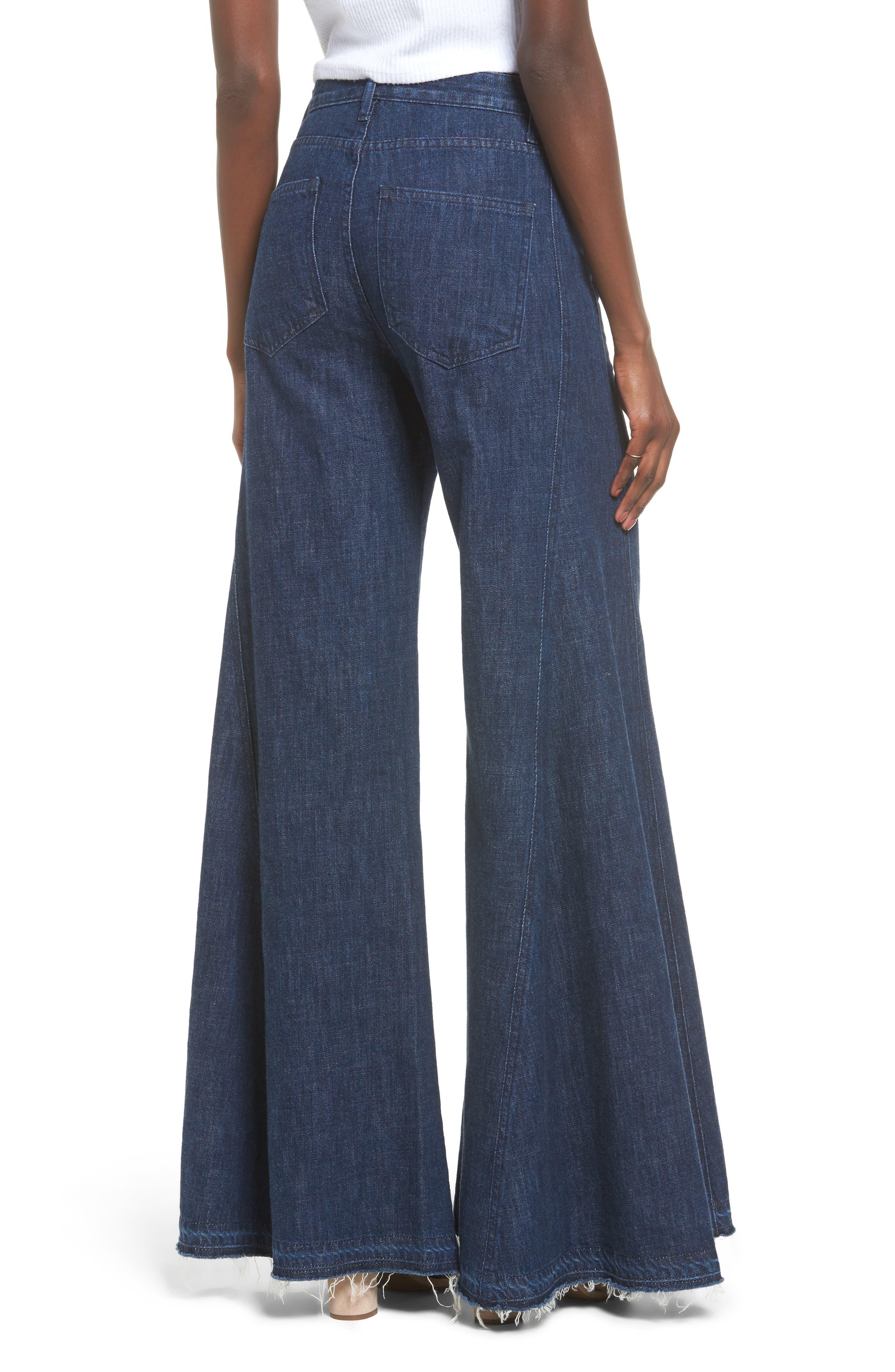 San Fran Super Flare Denim Pants,                             Alternate thumbnail 2, color,                             400