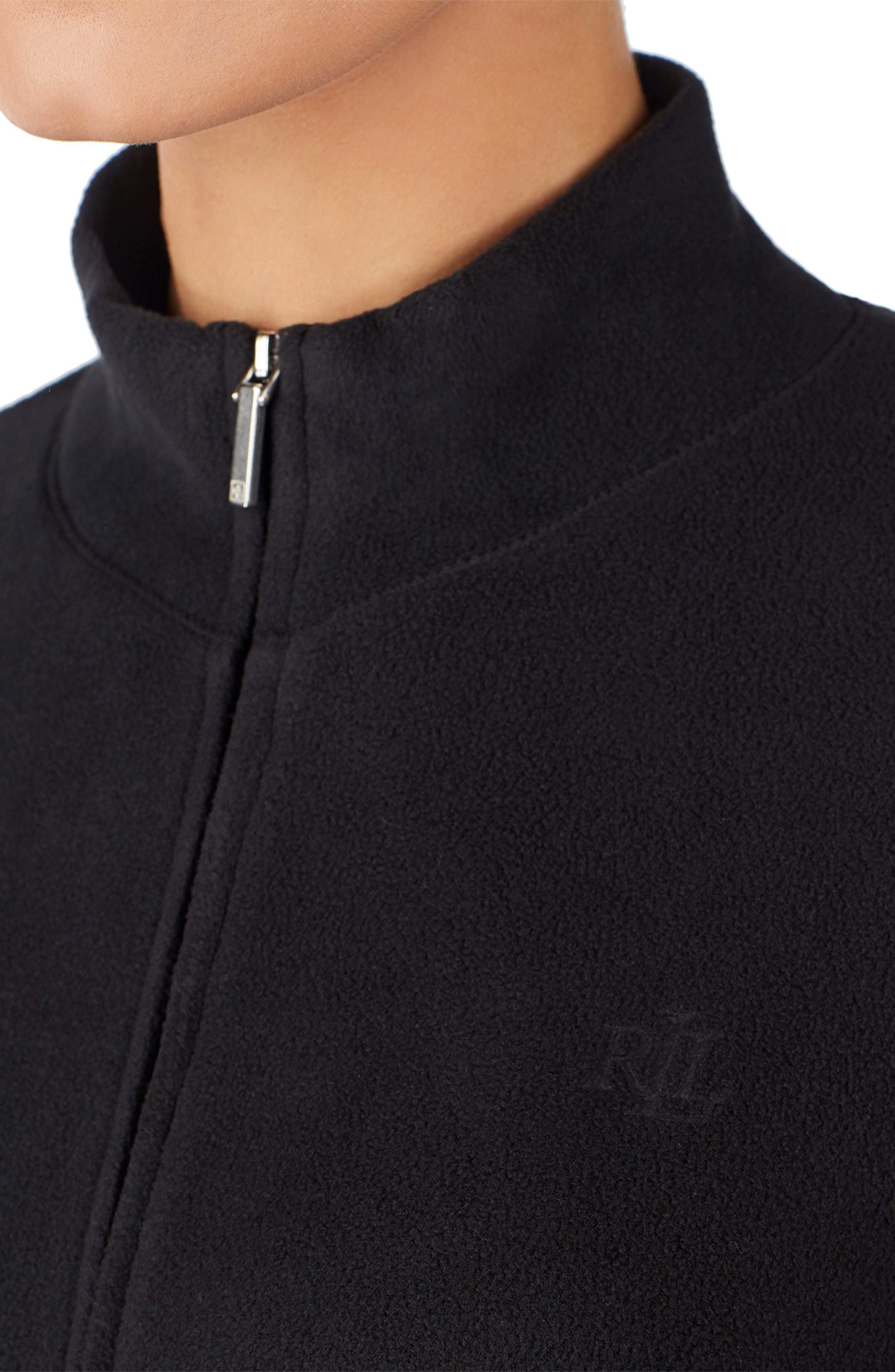 LAUREN RALPH LAUREN,                             Zip Jacket,                             Alternate thumbnail 4, color,                             BLACK