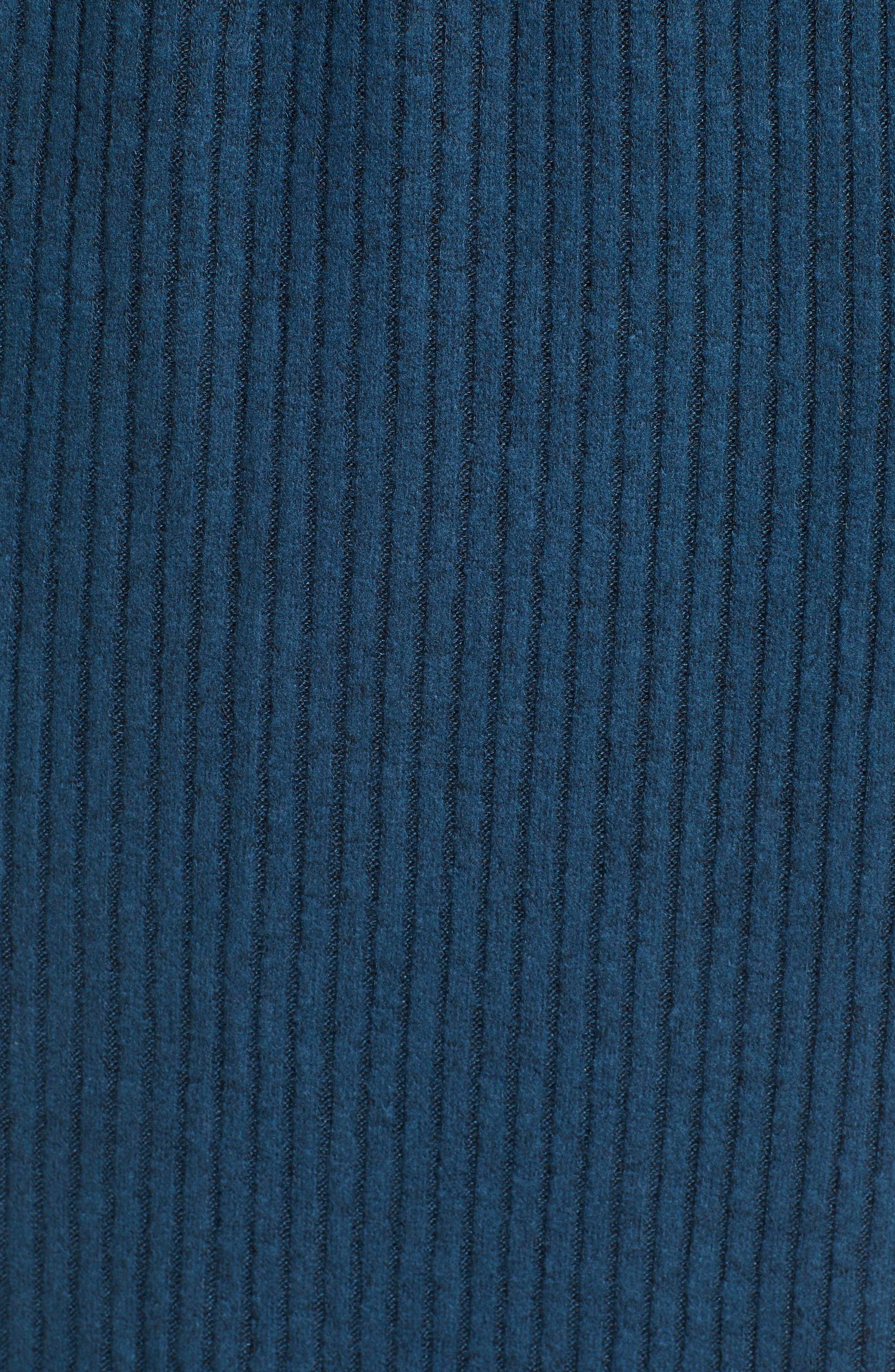 ALL IN FAVOR,                             Rib Knit Midi Dress,                             Alternate thumbnail 6, color,                             MIDNIGHT NAVY