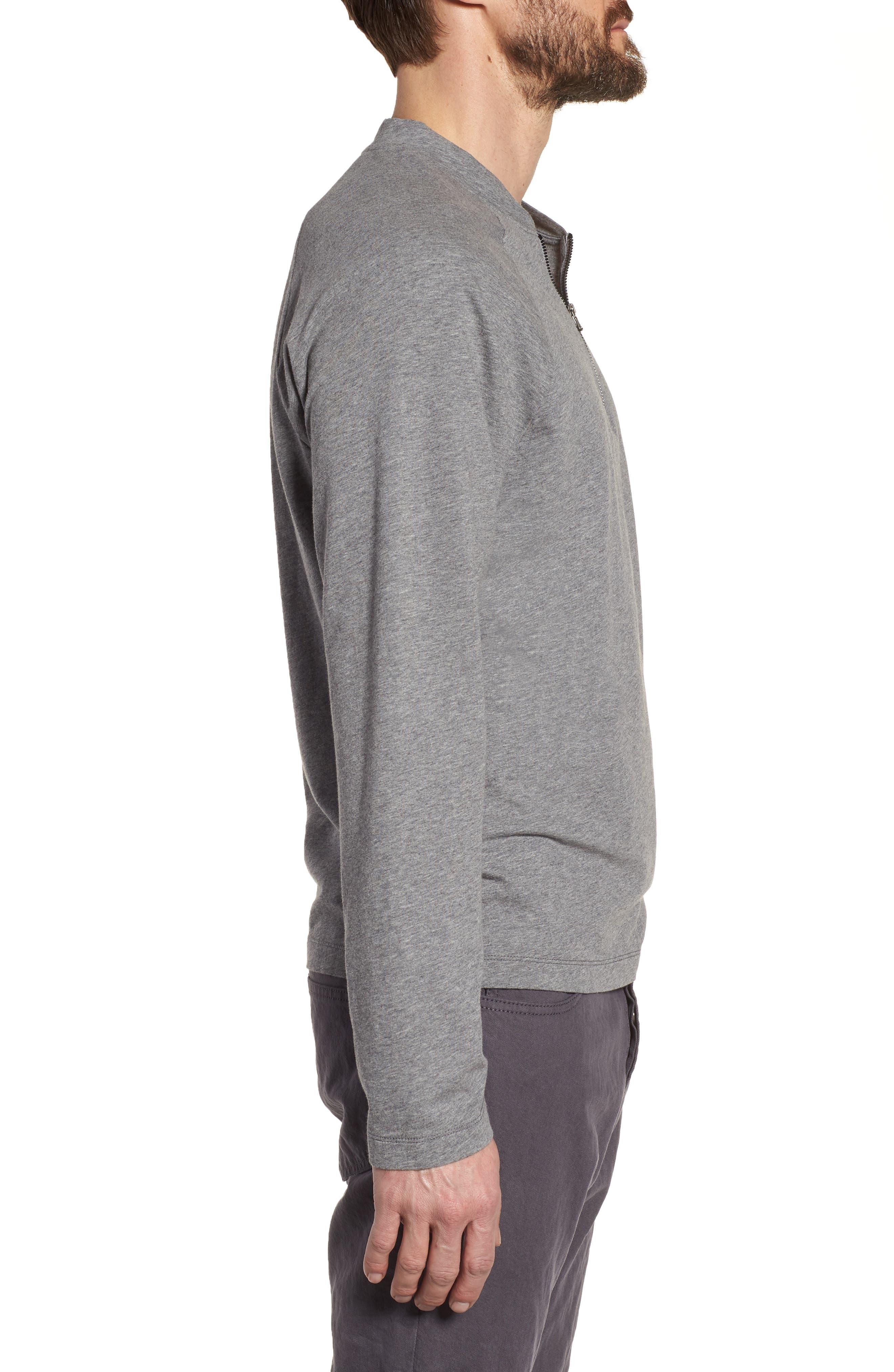 Regular Fit Half Zip Baseball Pullover,                             Alternate thumbnail 6, color,