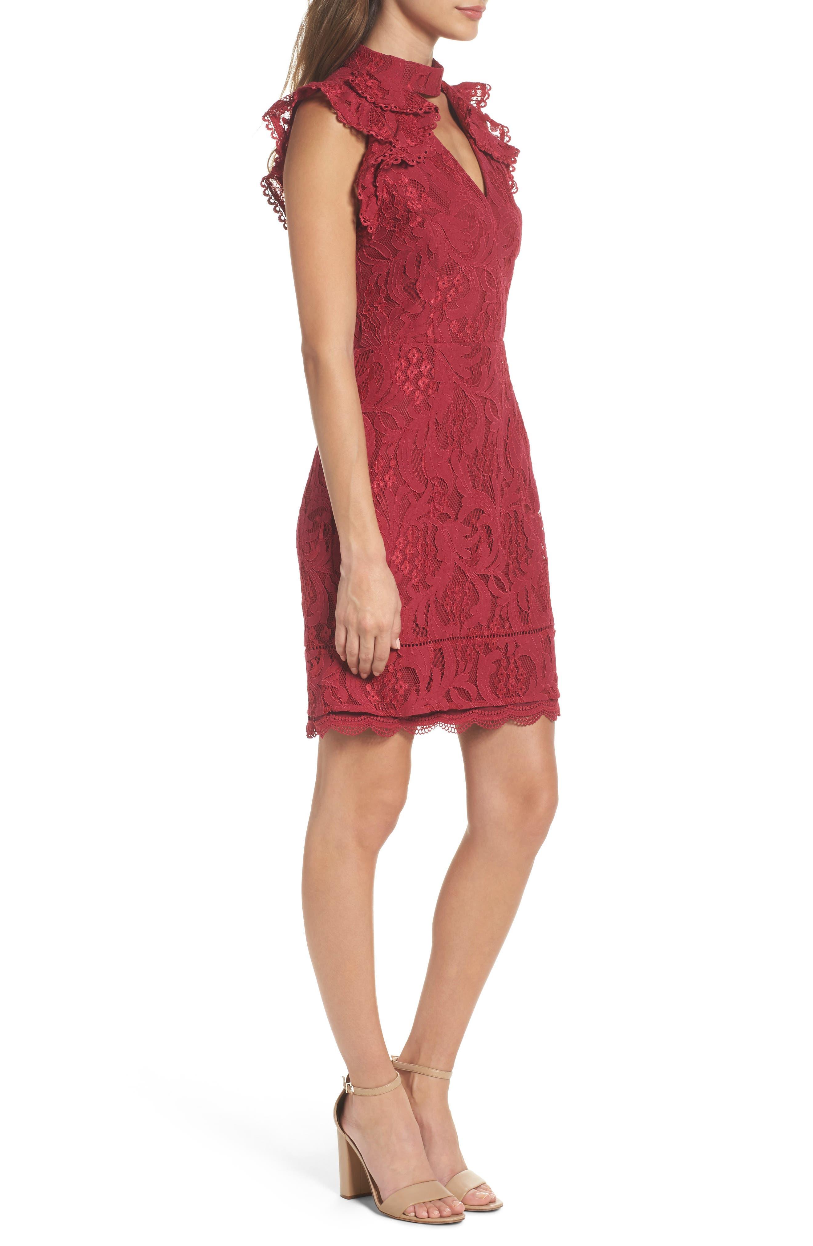 Delilah Lace Sheath Dress,                             Alternate thumbnail 6, color,