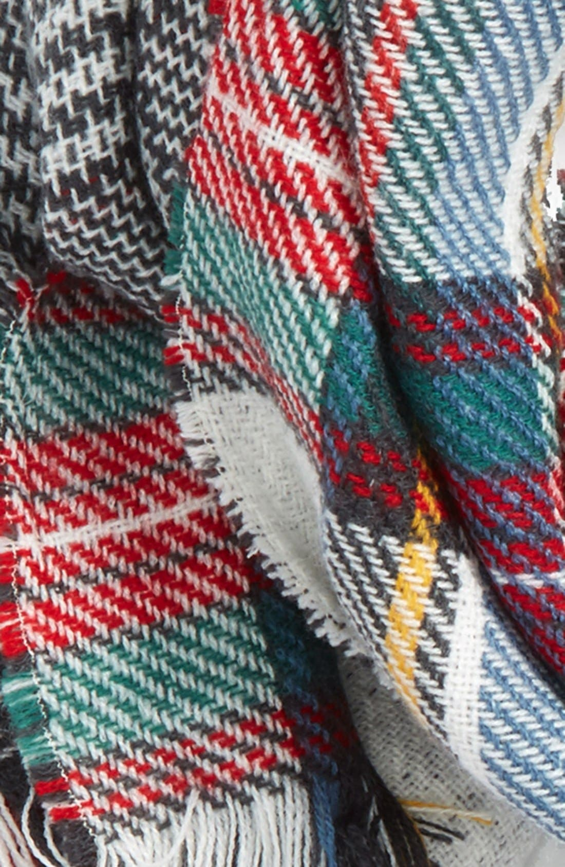 Accessory Collective Plaid Reversible Scarf,                             Alternate thumbnail 3, color,                             117