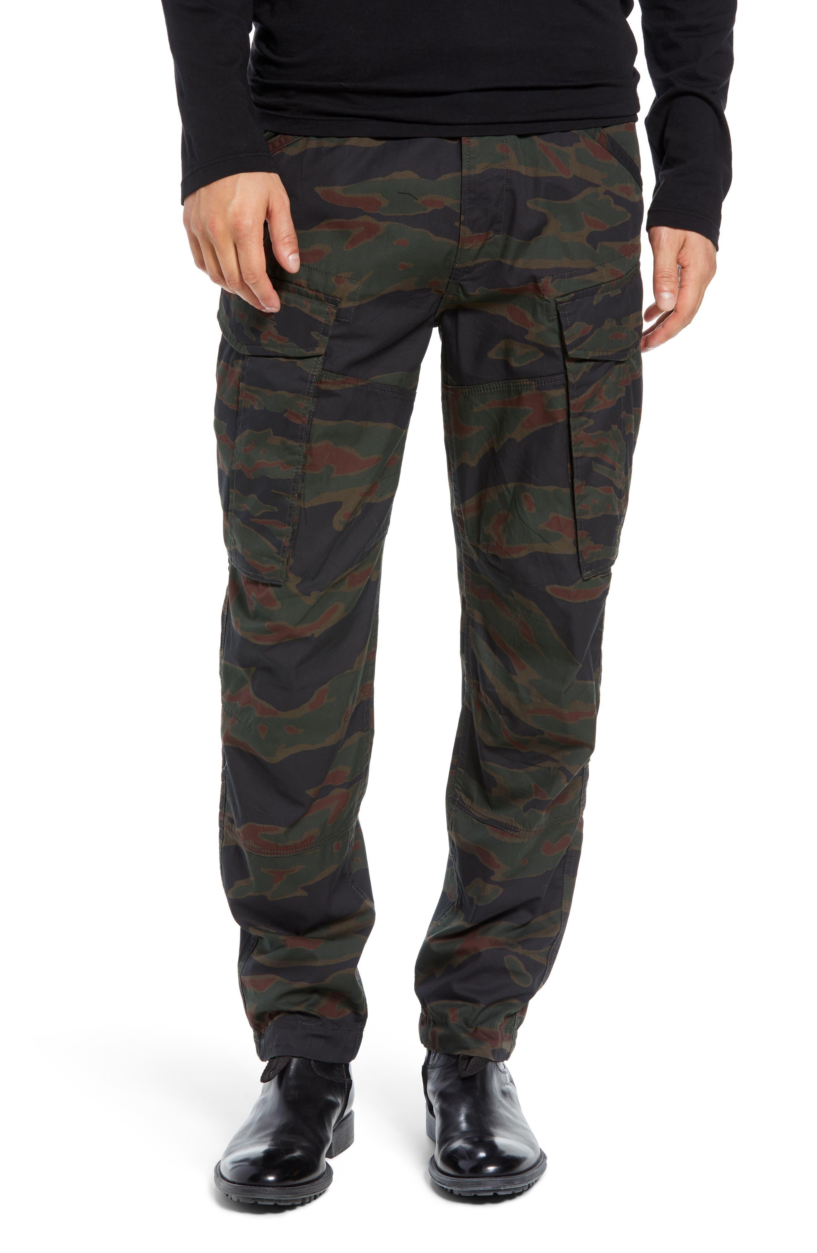 Rovic Tapered Cargo Pants,                         Main,                         color, SMOKE GREEN/ DARK VERMO