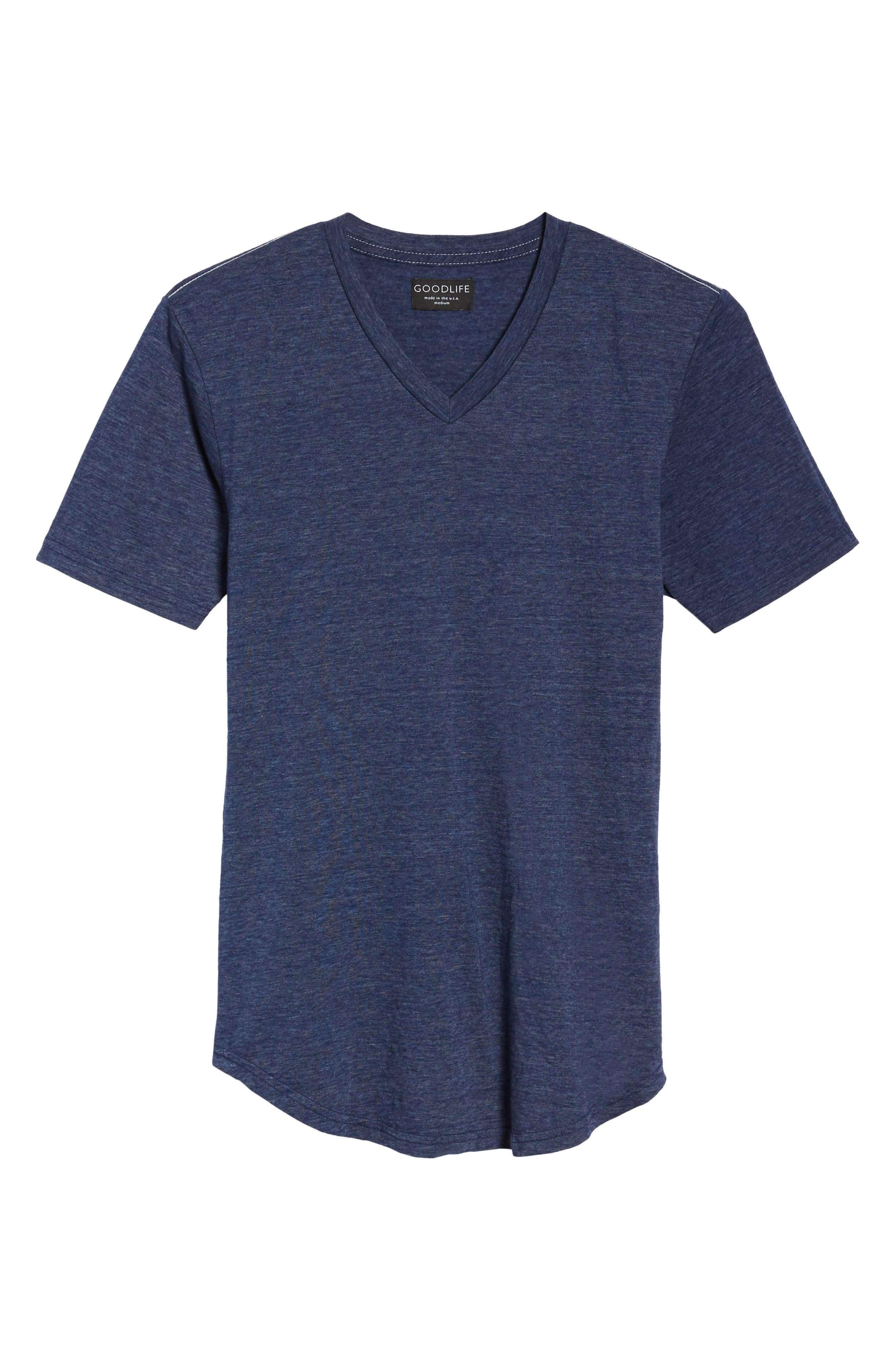 Scallop Triblend V-Neck T-Shirt,                             Alternate thumbnail 42, color,