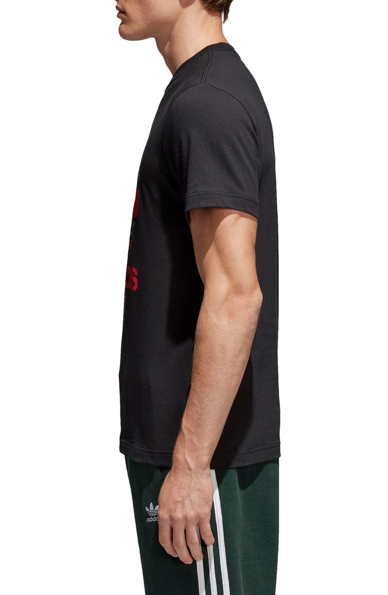 Trefoil T-Shirt,                             Alternate thumbnail 3, color,                             001
