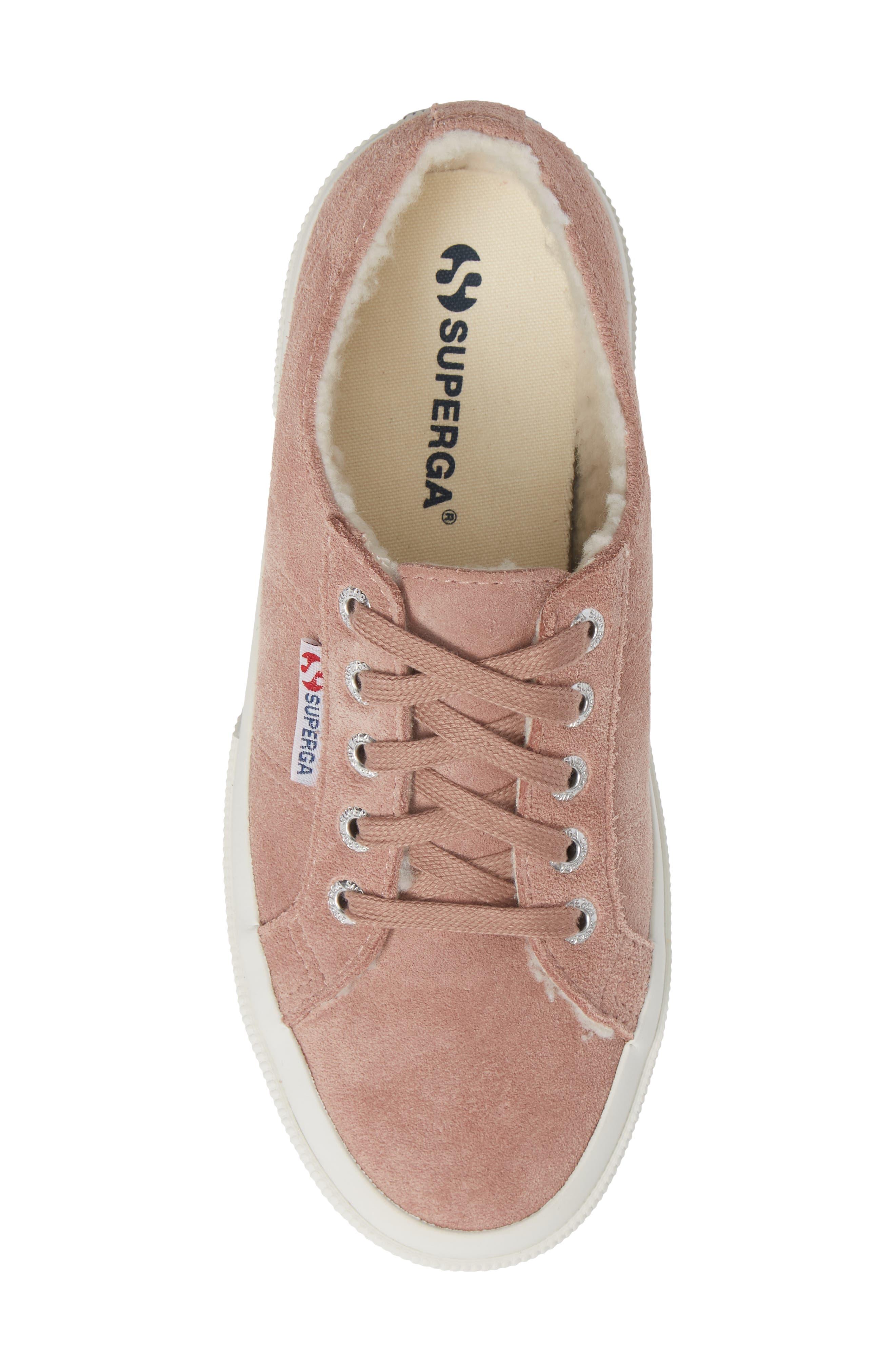 2750 Suefurw Sneaker,                             Alternate thumbnail 5, color,                             ROSE SUEDE