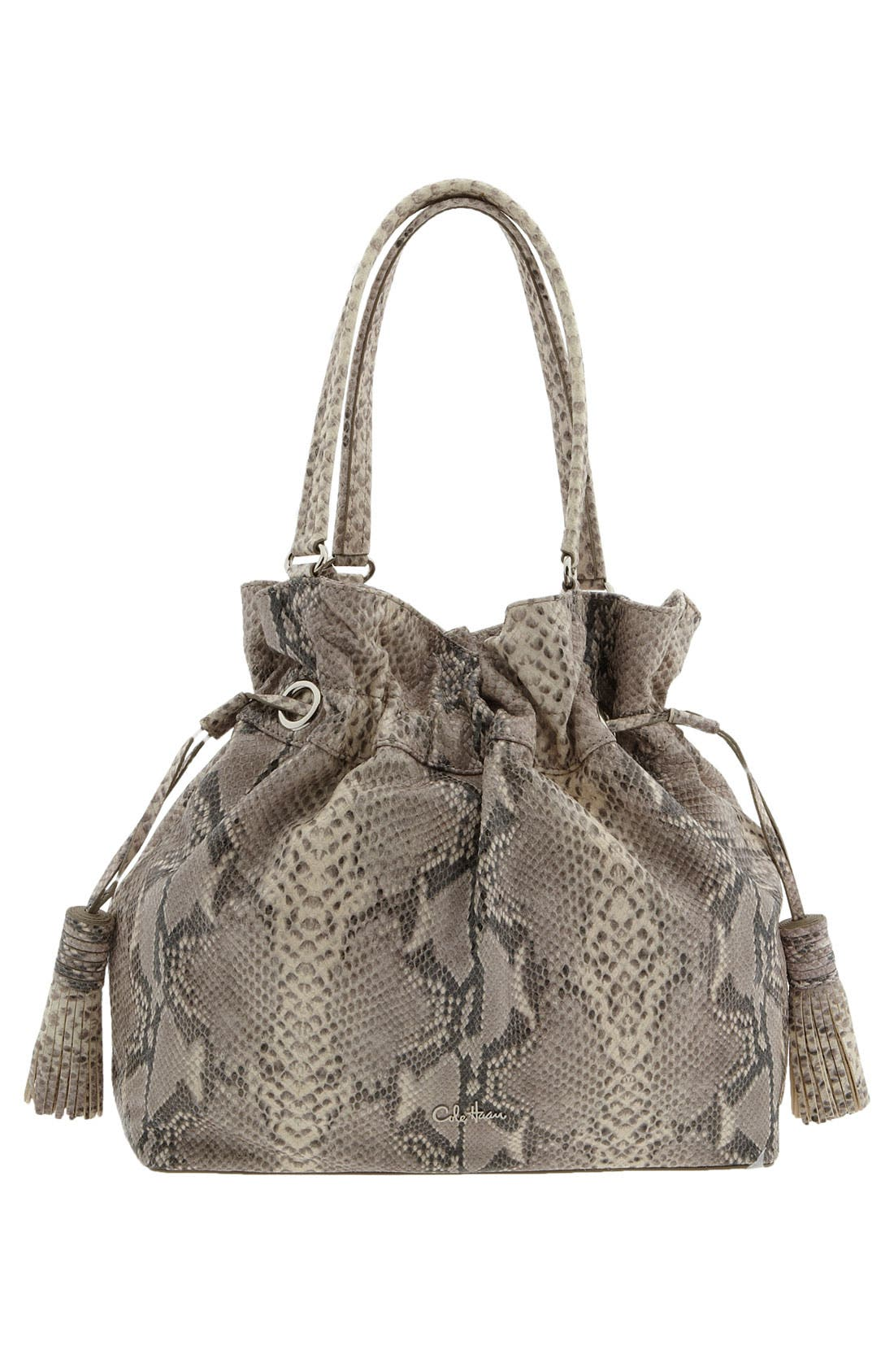 'Bailey' Pebbled Leather Drawstring Tote,                             Alternate thumbnail 13, color,