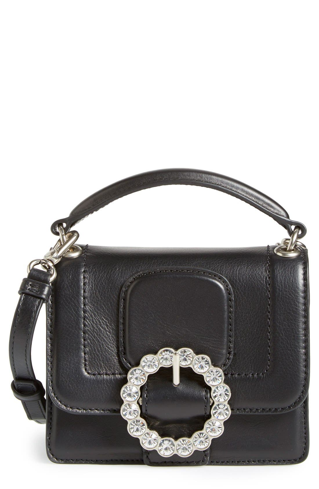MARC JACOBS MARC BY MARC JACOBS 'The Box' Crossbody Bag, Main, color, 001