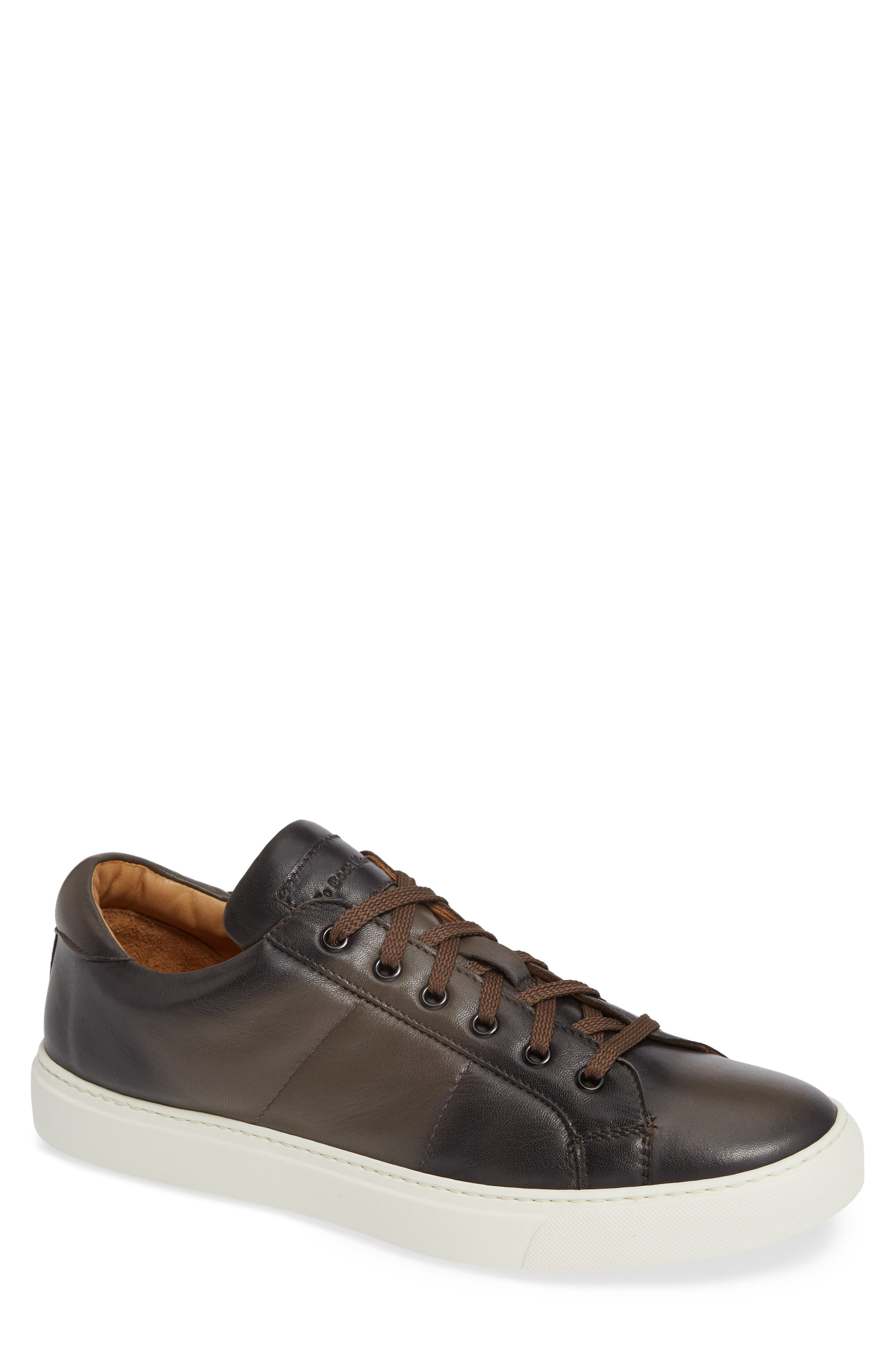Colton Sneaker,                         Main,                         color, TAUPE GREY LEATHER