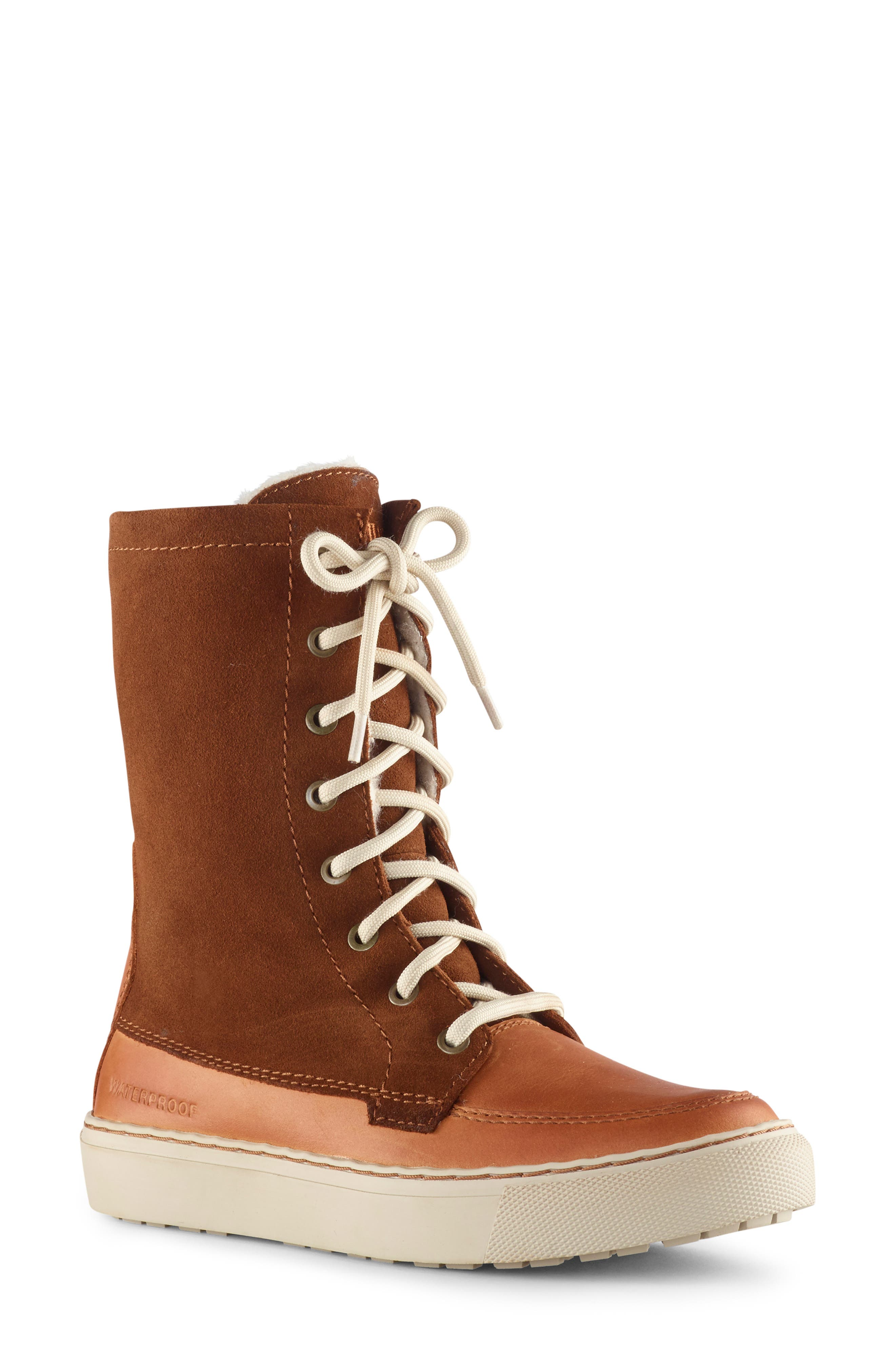 Cougar Donato Waterproof Winter Boot With Faux Fur Lining, Brown