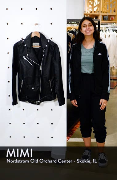 Oversize Faux Leather Moto Jacket, sales video thumbnail