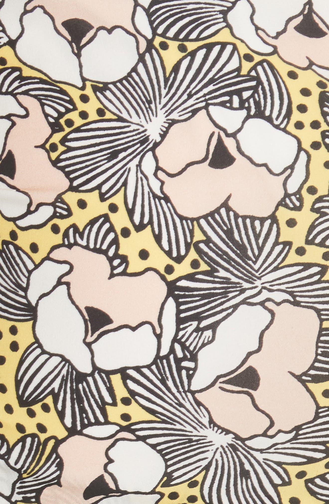 Martine Floral Print Dress,                             Alternate thumbnail 7, color,