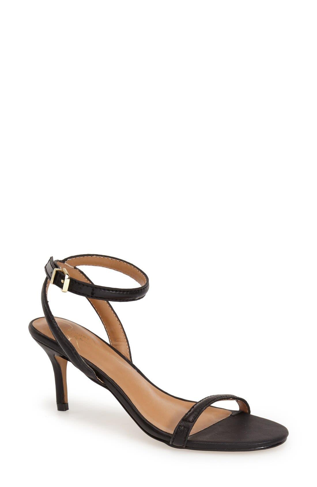 REPORT 'Signature Neely' Ankle Strap Sandal,                             Main thumbnail 1, color,                             001