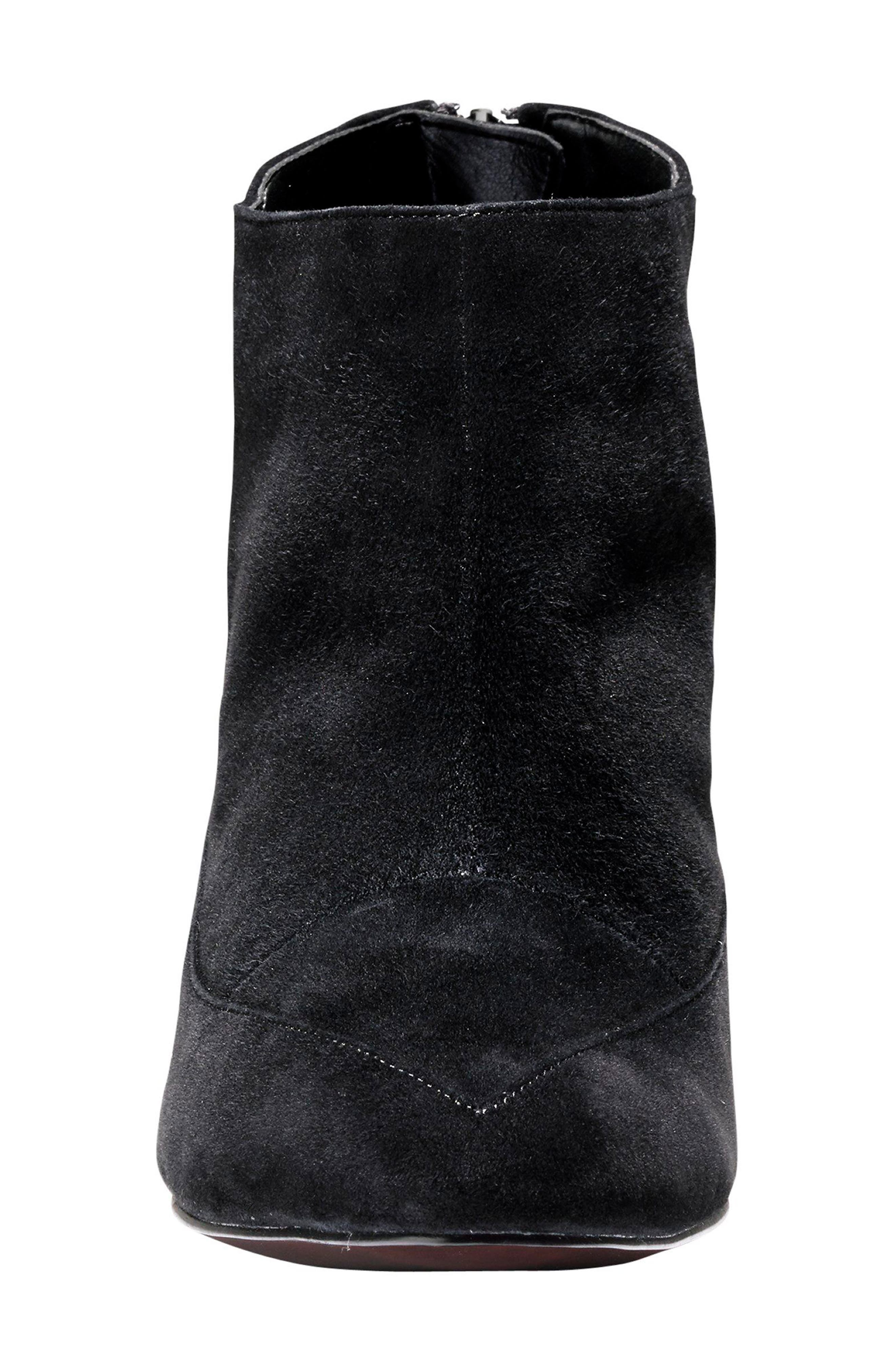 Arlean Pointy Toe Bootie,                             Alternate thumbnail 4, color,                             001