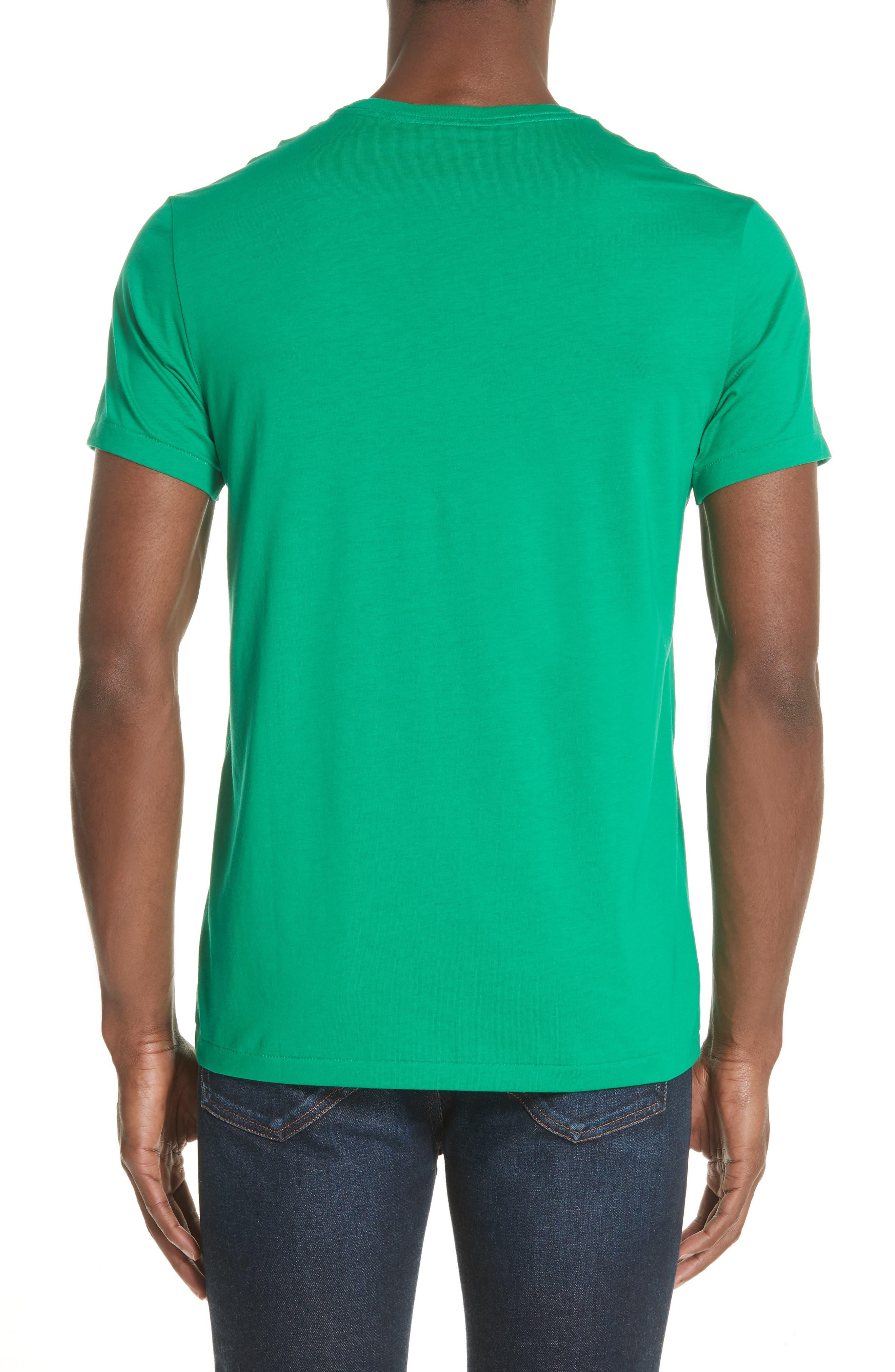 Jadford V-Neck T-Shirt,                             Alternate thumbnail 2, color,                             BRIGHT GREEN