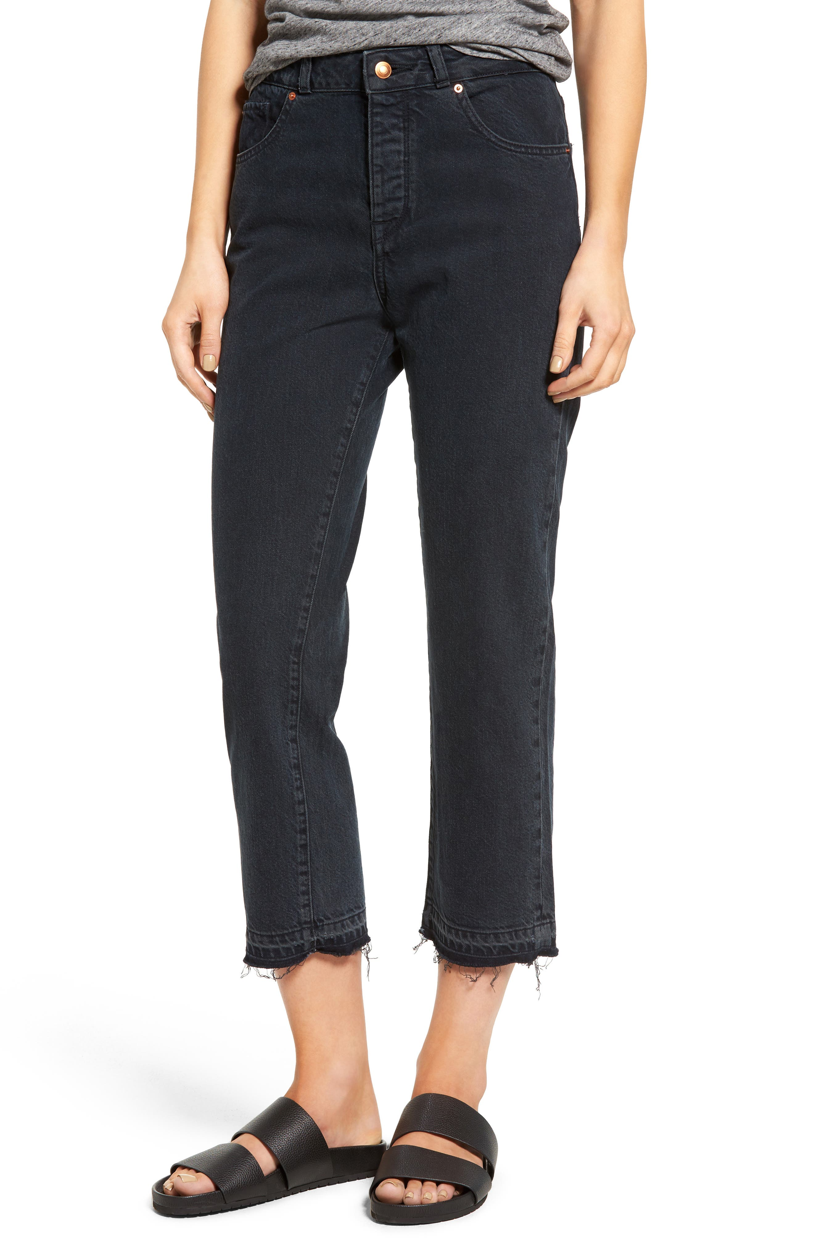 Patti High Rise Straight Leg Jeans,                             Main thumbnail 1, color,                             002