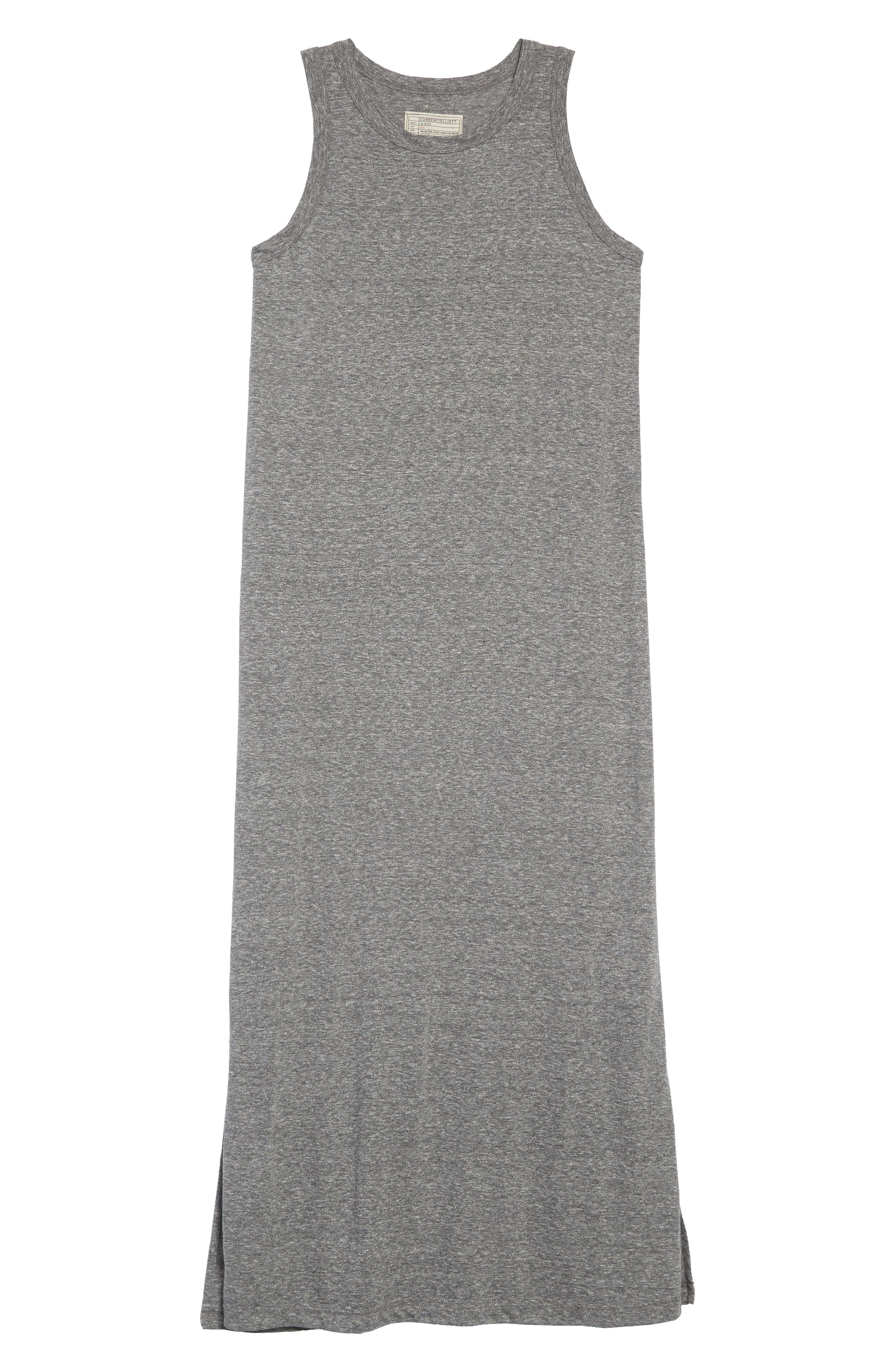 The Perfect Muscle Tee Dress,                             Alternate thumbnail 7, color,                             HEATHER GREY