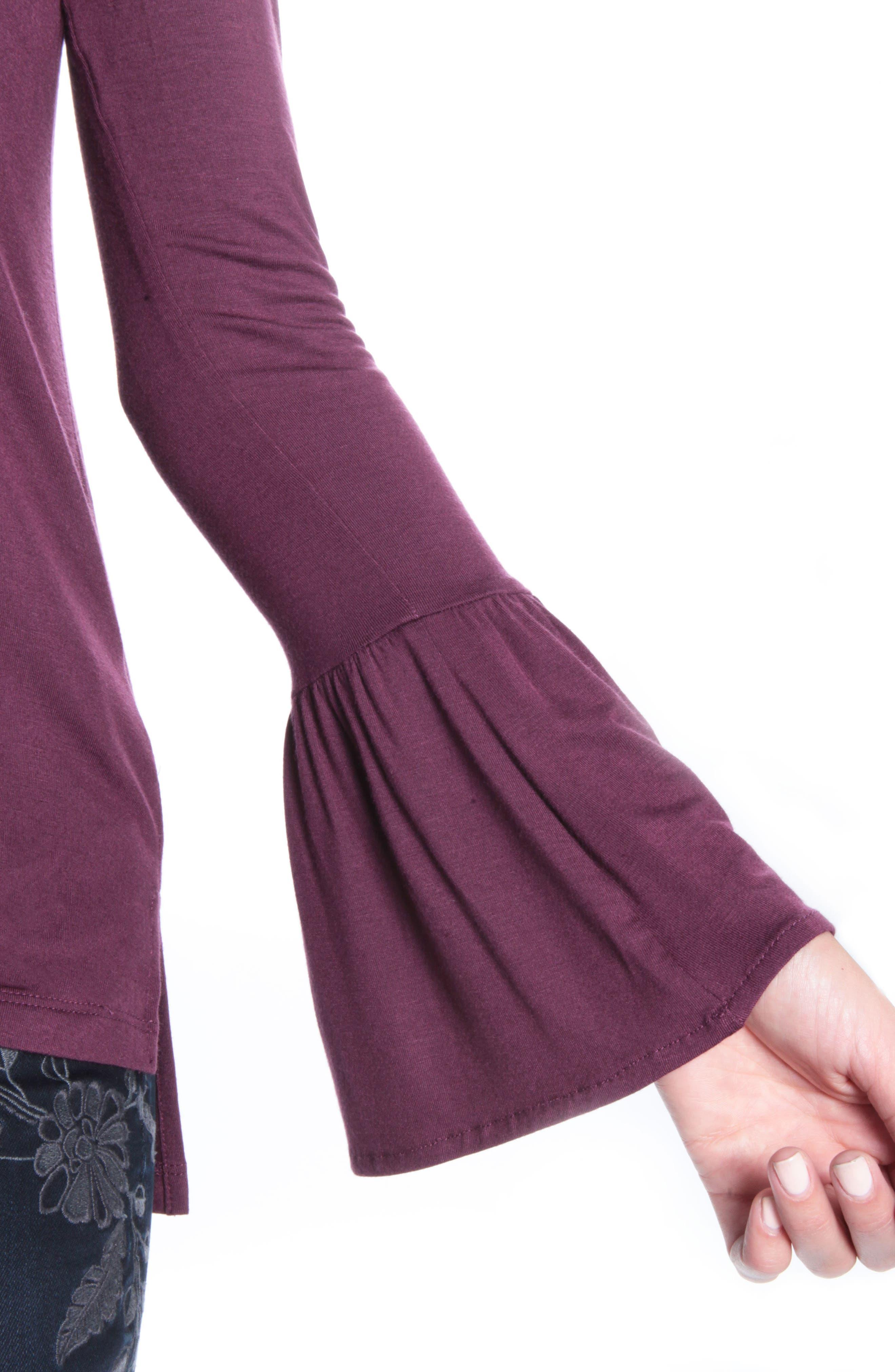 Winnie Bell Sleeve Top,                             Alternate thumbnail 4, color,                             936