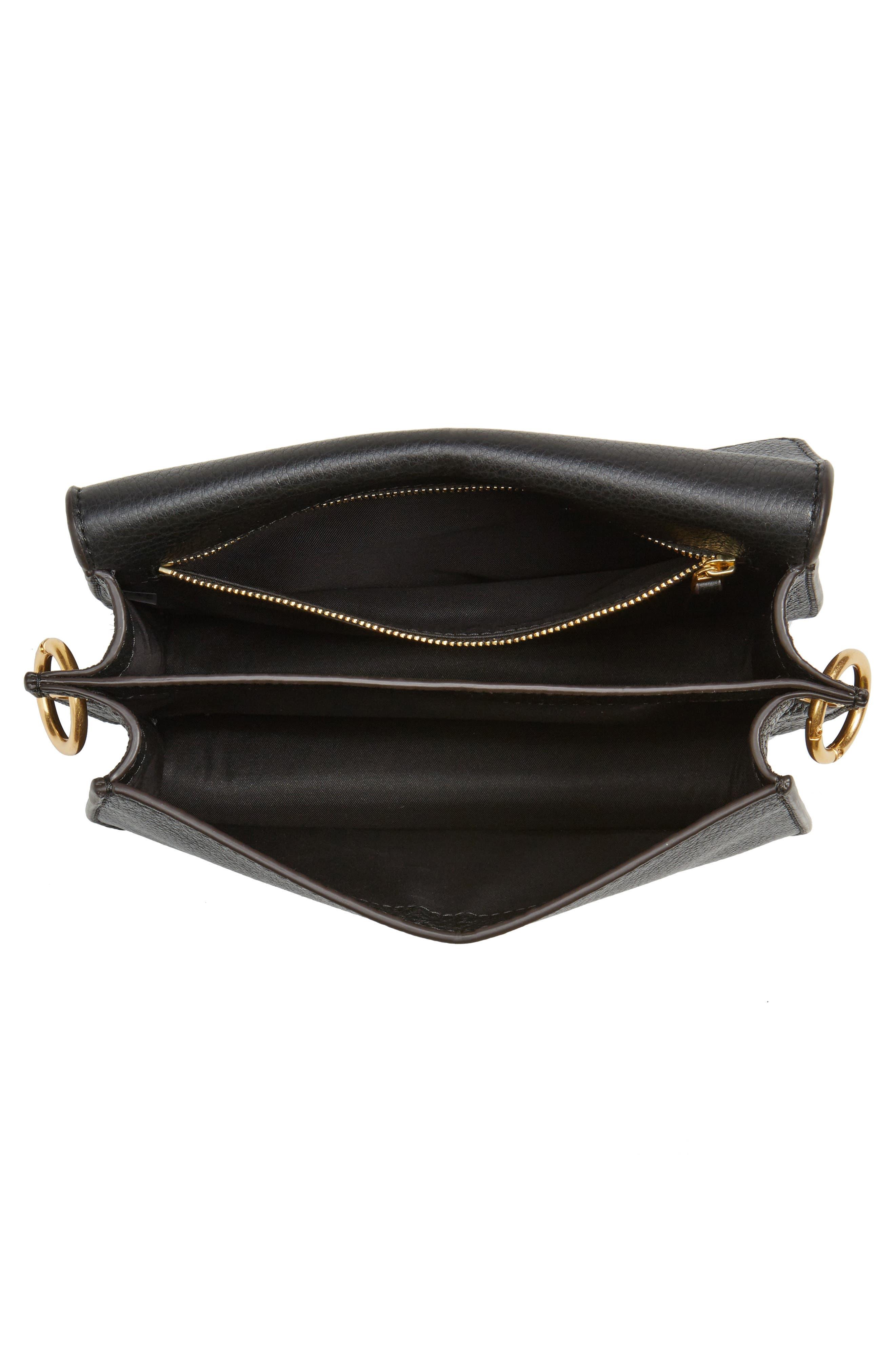 McGraw Leather Shoulder Bag,                             Alternate thumbnail 4, color,                             001