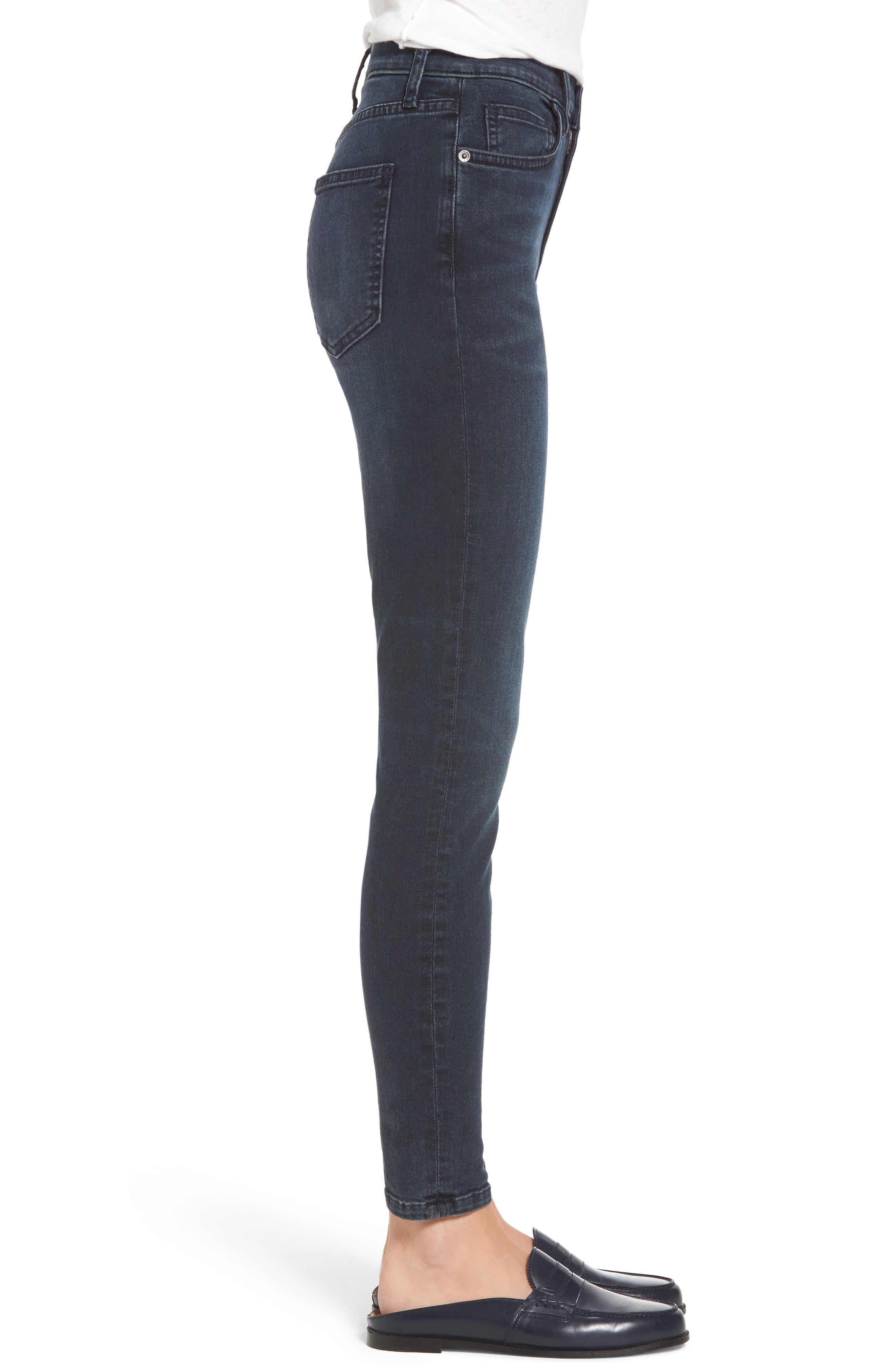The Super High Waist Stiletto Ankle Skinny Jeans,                             Alternate thumbnail 3, color,                             467