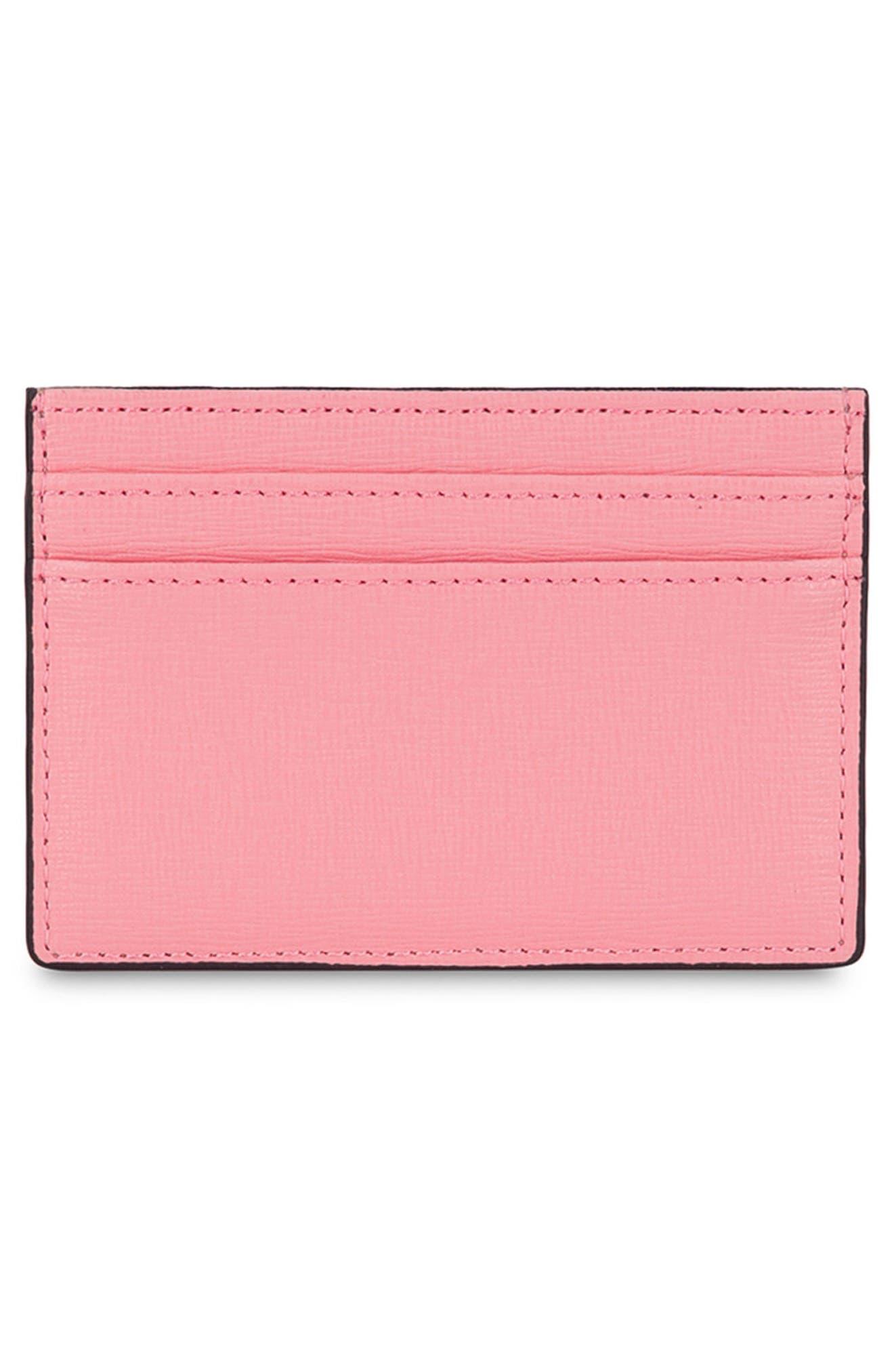 Babylon Saffiano Leather Card Case,                             Alternate thumbnail 7, color,