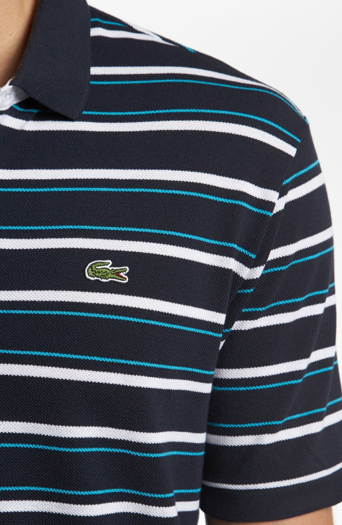 Stripe Piqué Polo,                             Alternate thumbnail 3, color,                             409