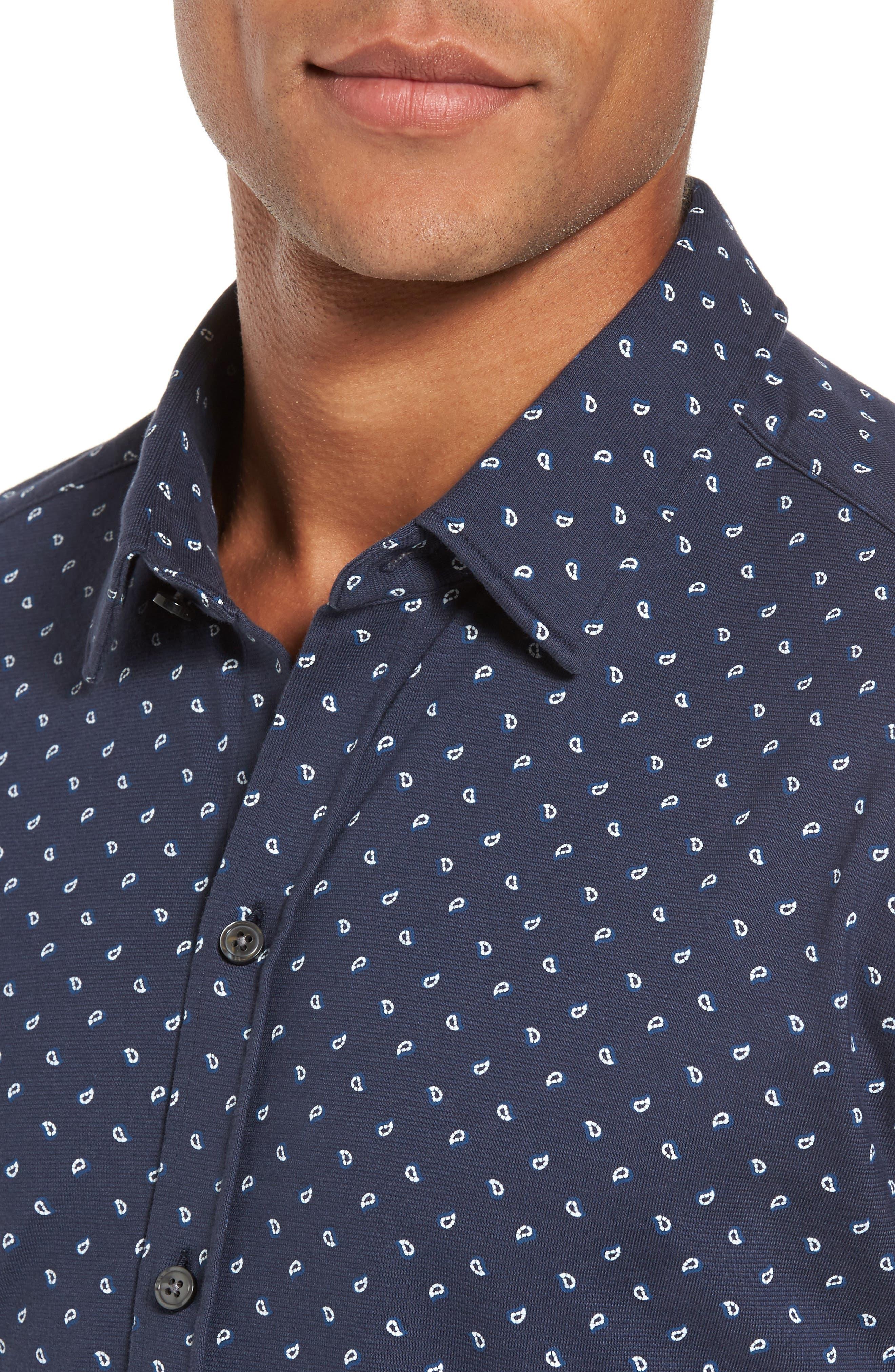 Sharp Fit Paisley Sport Shirt,                             Alternate thumbnail 4, color,                             410