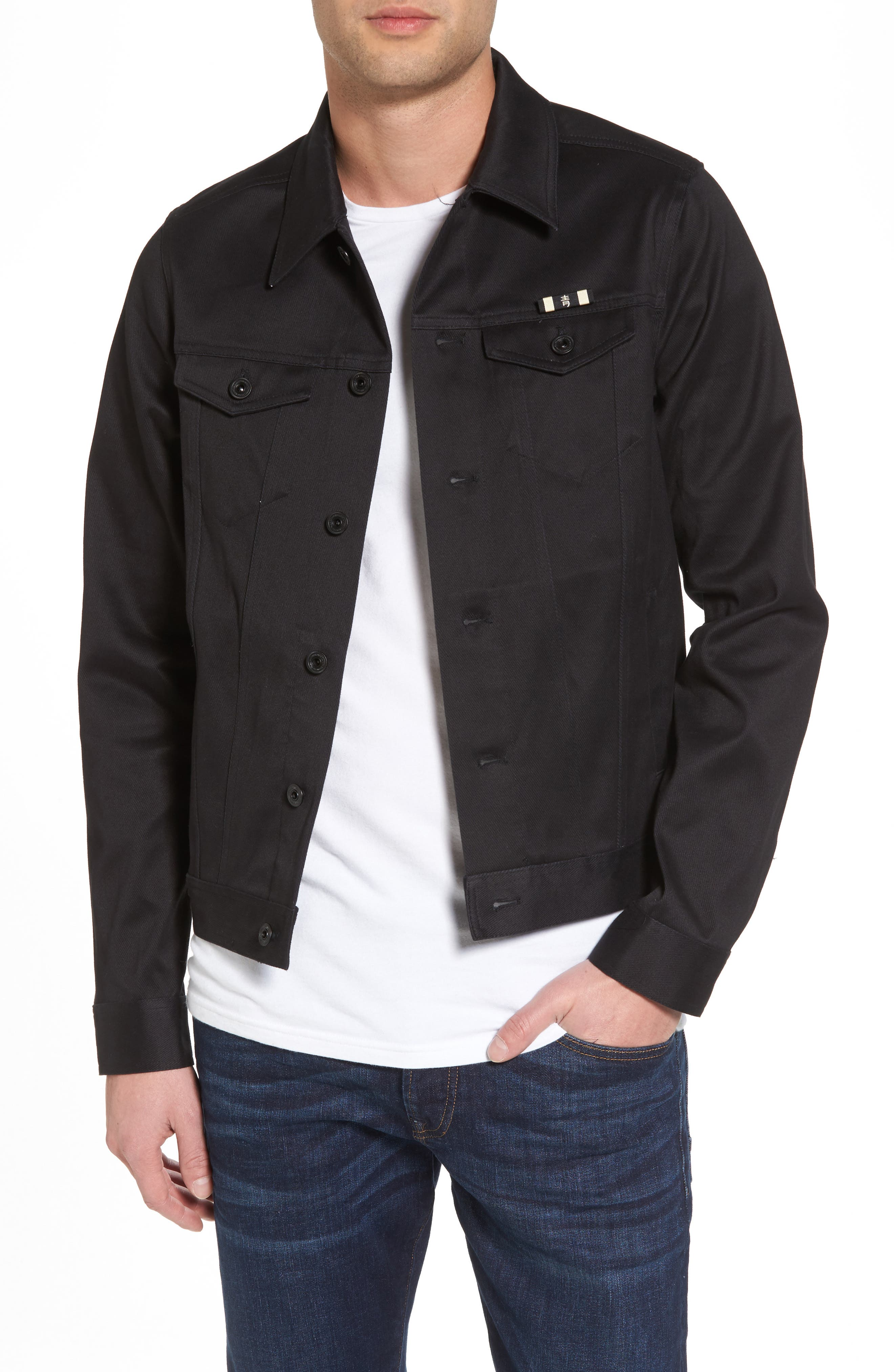 Clean Tailored Trucker Jacket,                         Main,                         color, 002